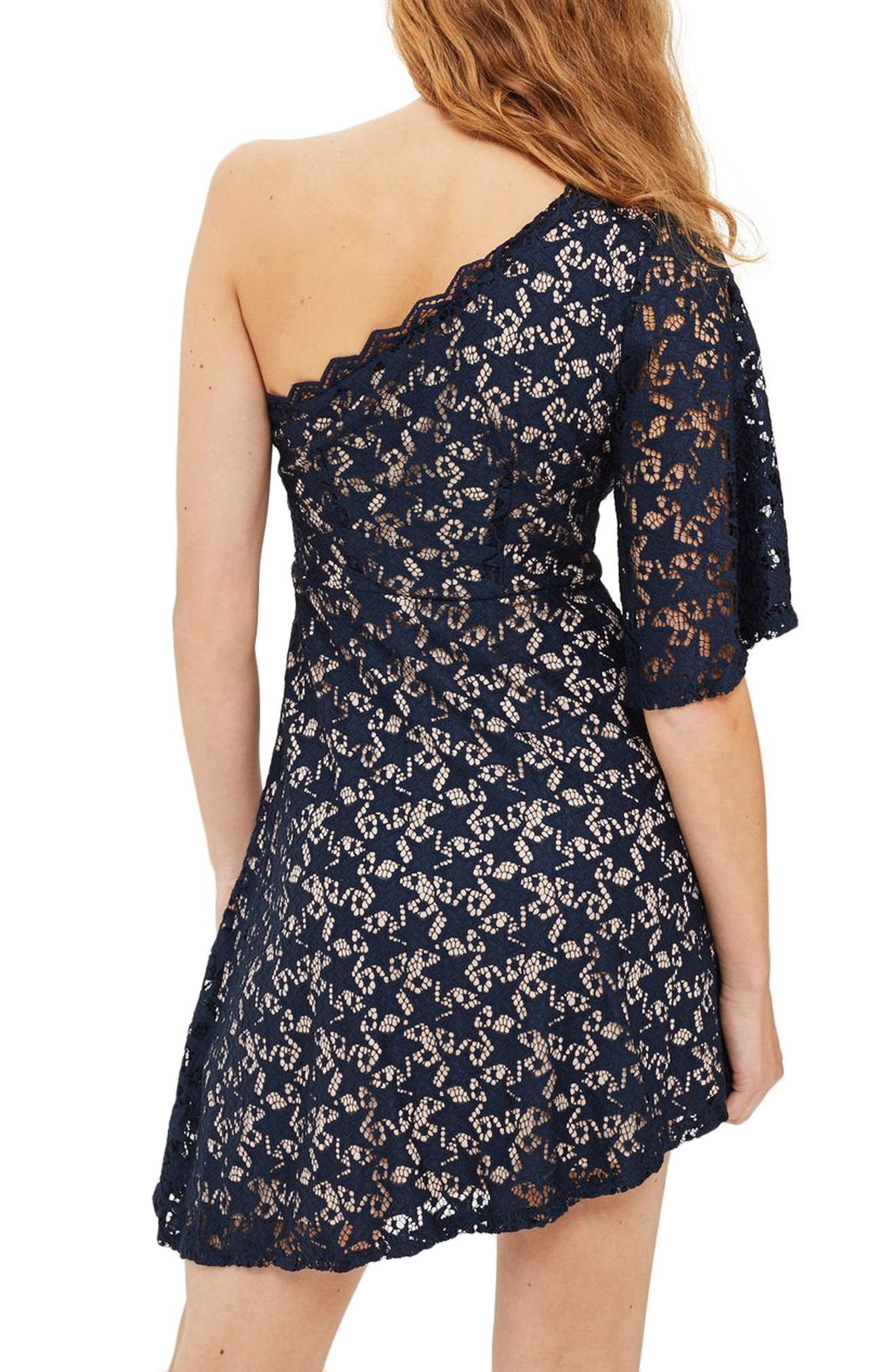 Alternate Image 3  - Topshop Star Print Lace Minidress