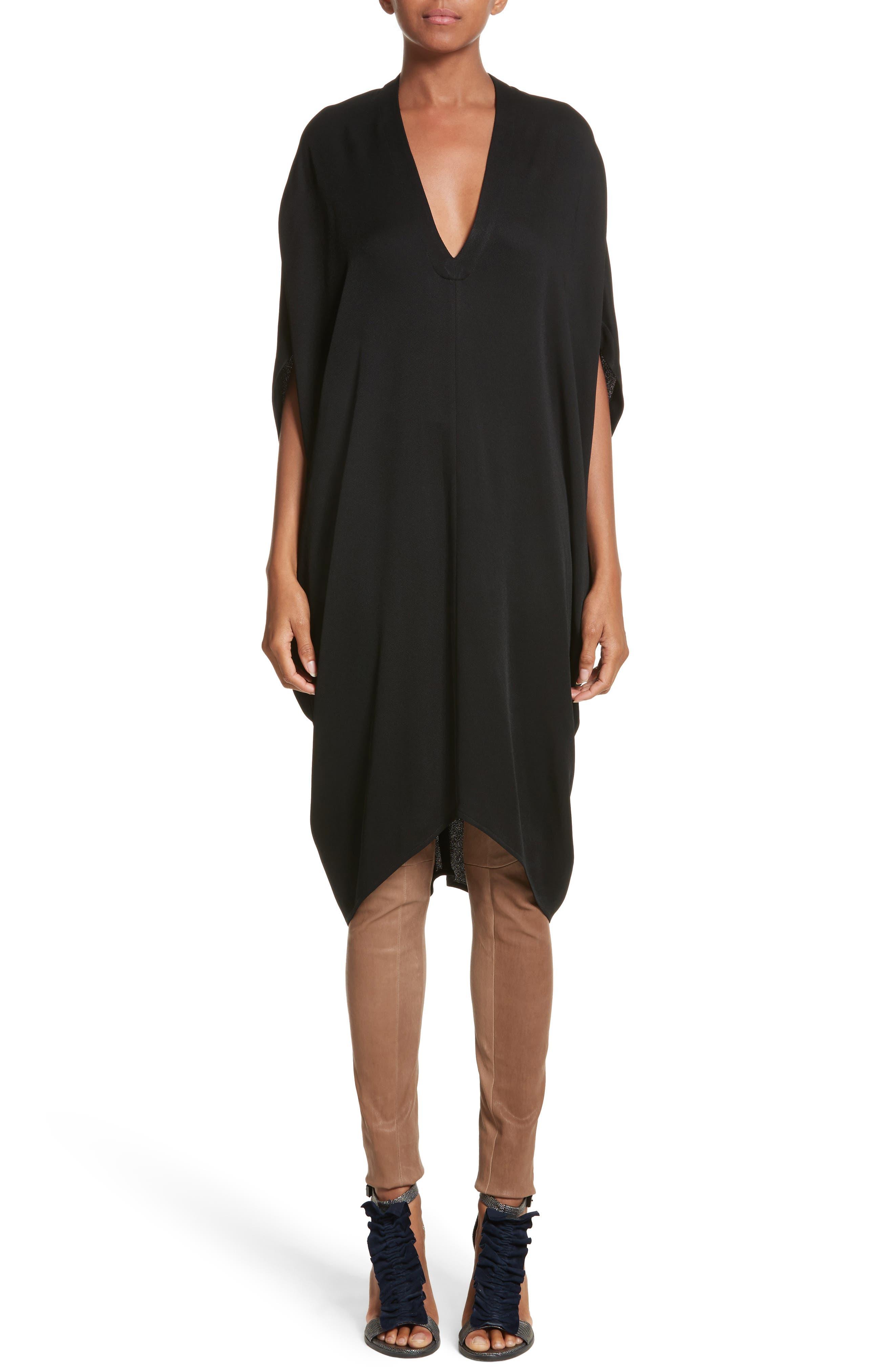 Eco Drape Dress,                         Main,                         color, Black