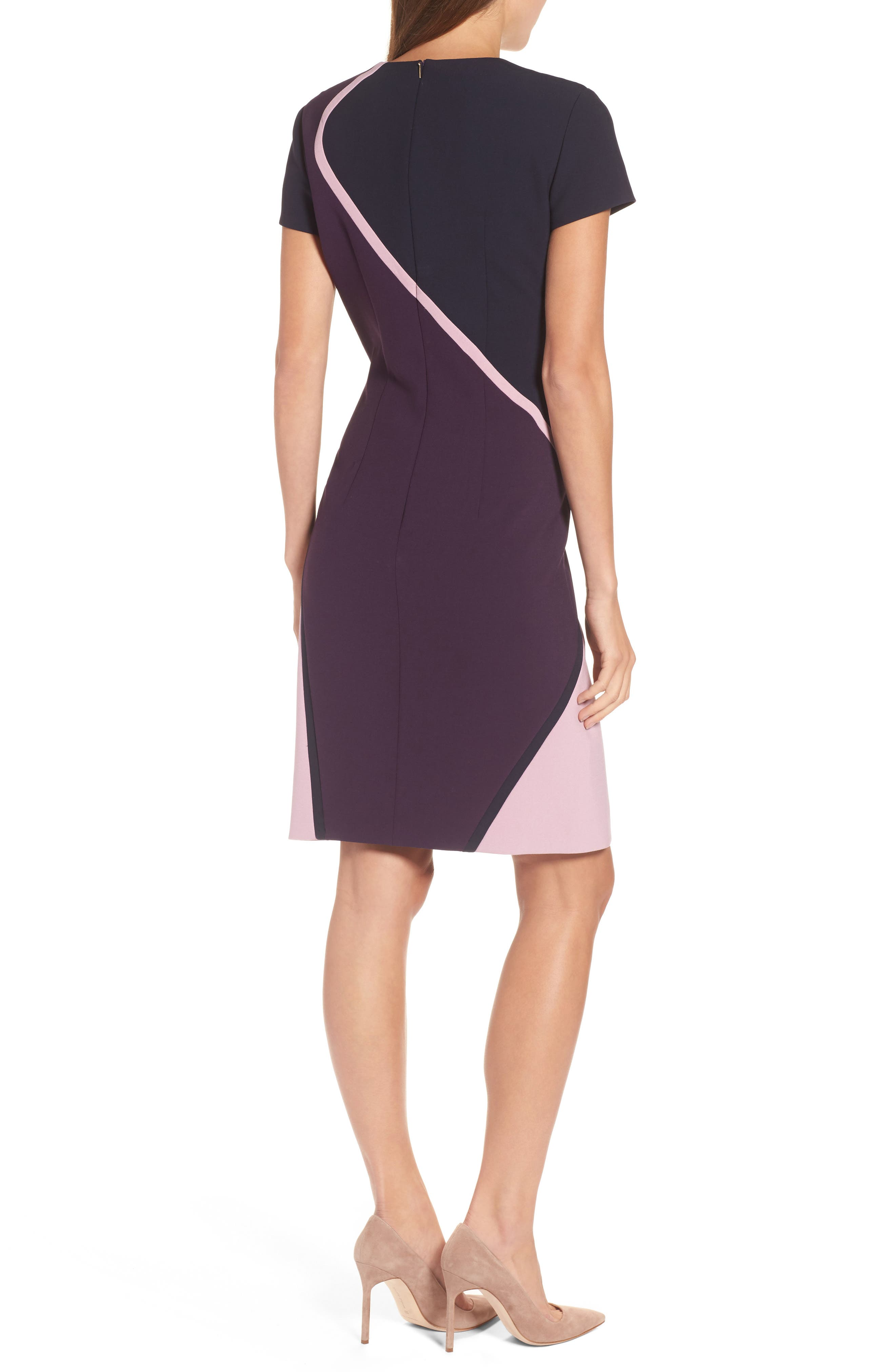 Alternate Image 2  - BOSS Dukatia Colorblock Sheath Dress