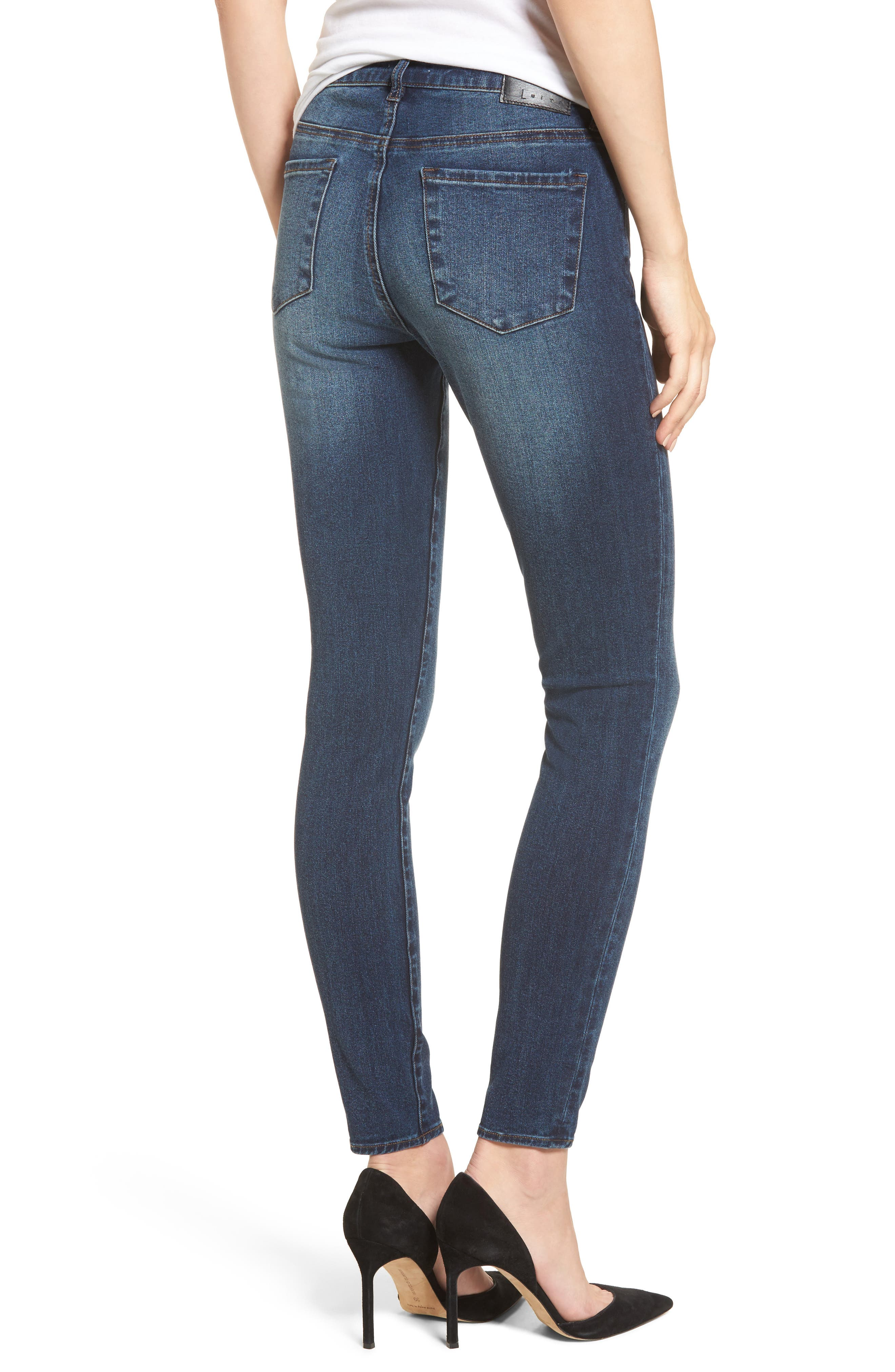 Alternate Image 2  - Leith High Waist Skinny Jeans