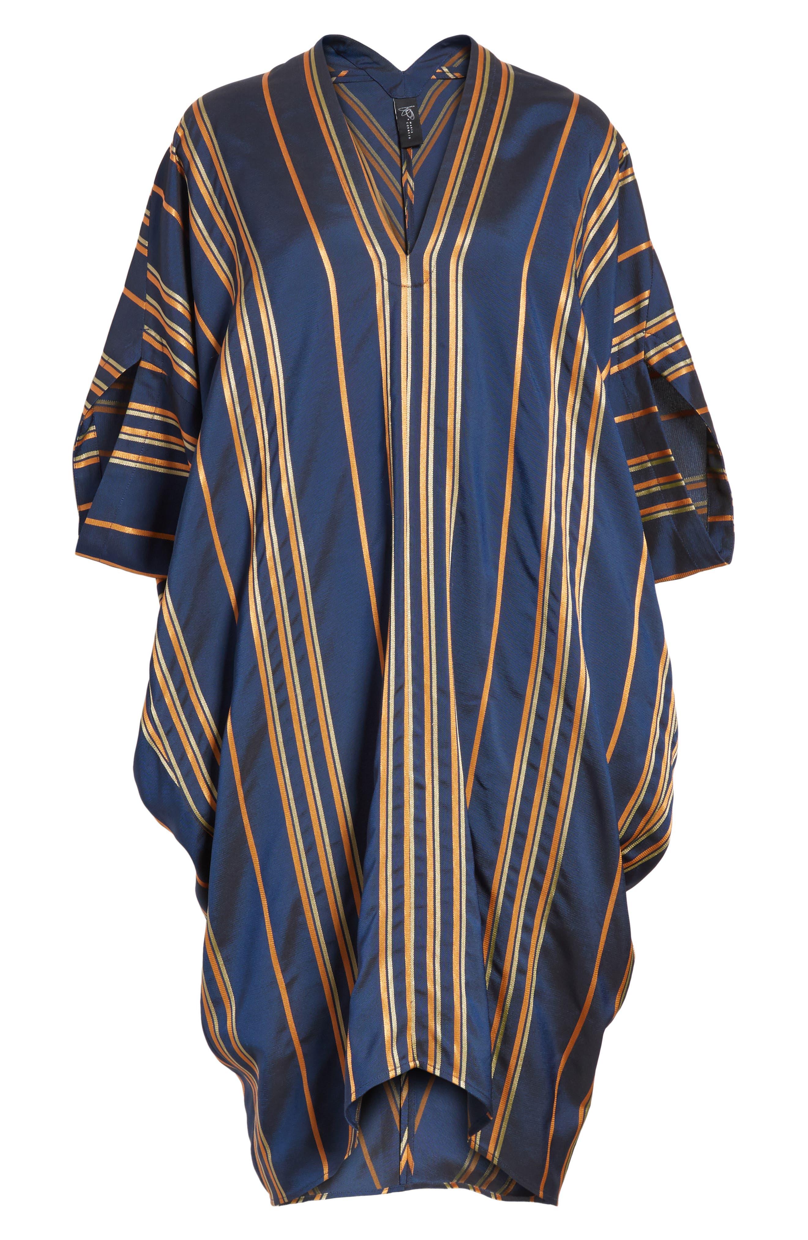 Stripe Dress,                             Alternate thumbnail 7, color,                             Mykonos/Papaya