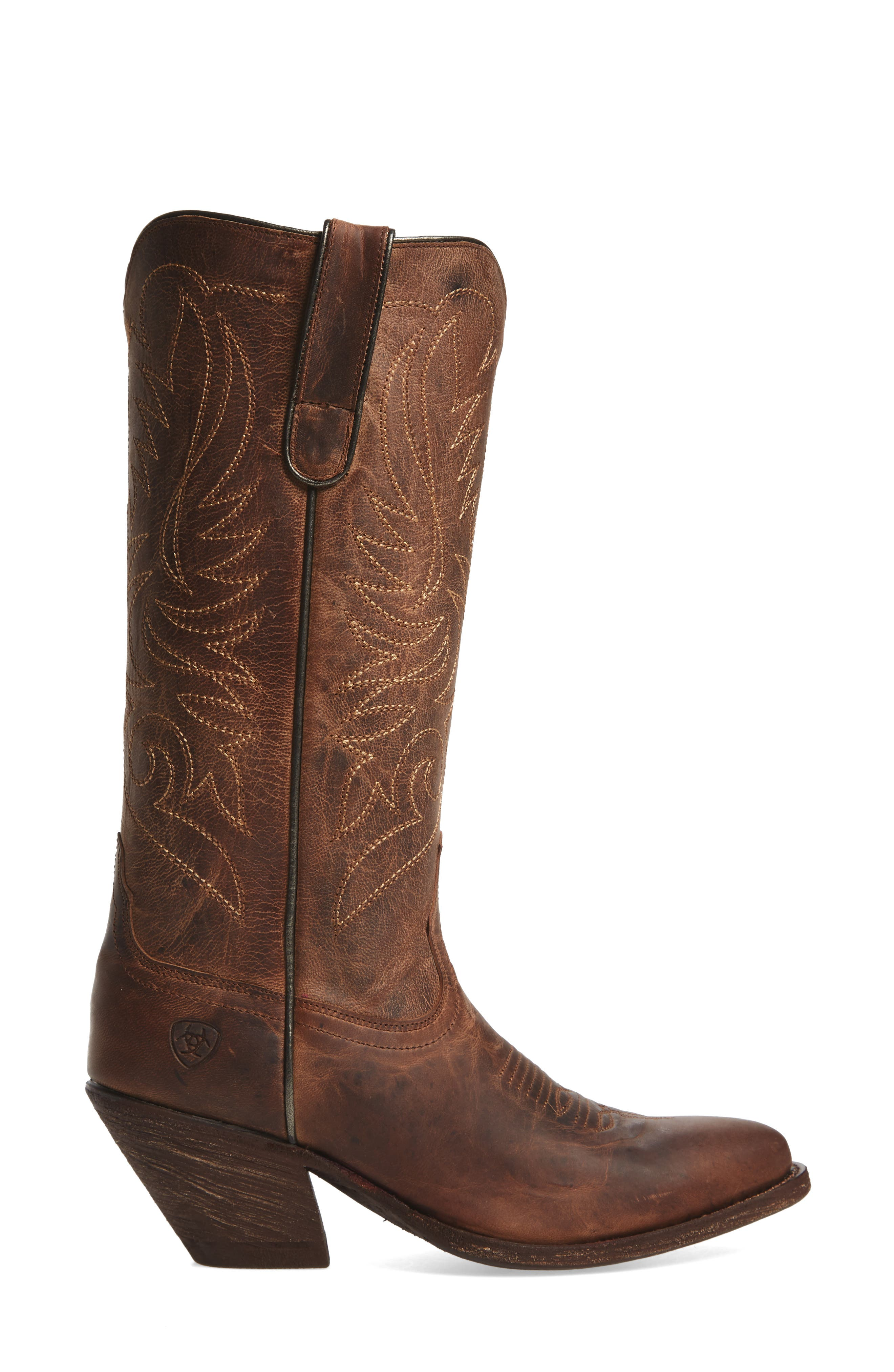 Shindig Western Boot,                             Alternate thumbnail 3, color,                             Weathered Tan Leather