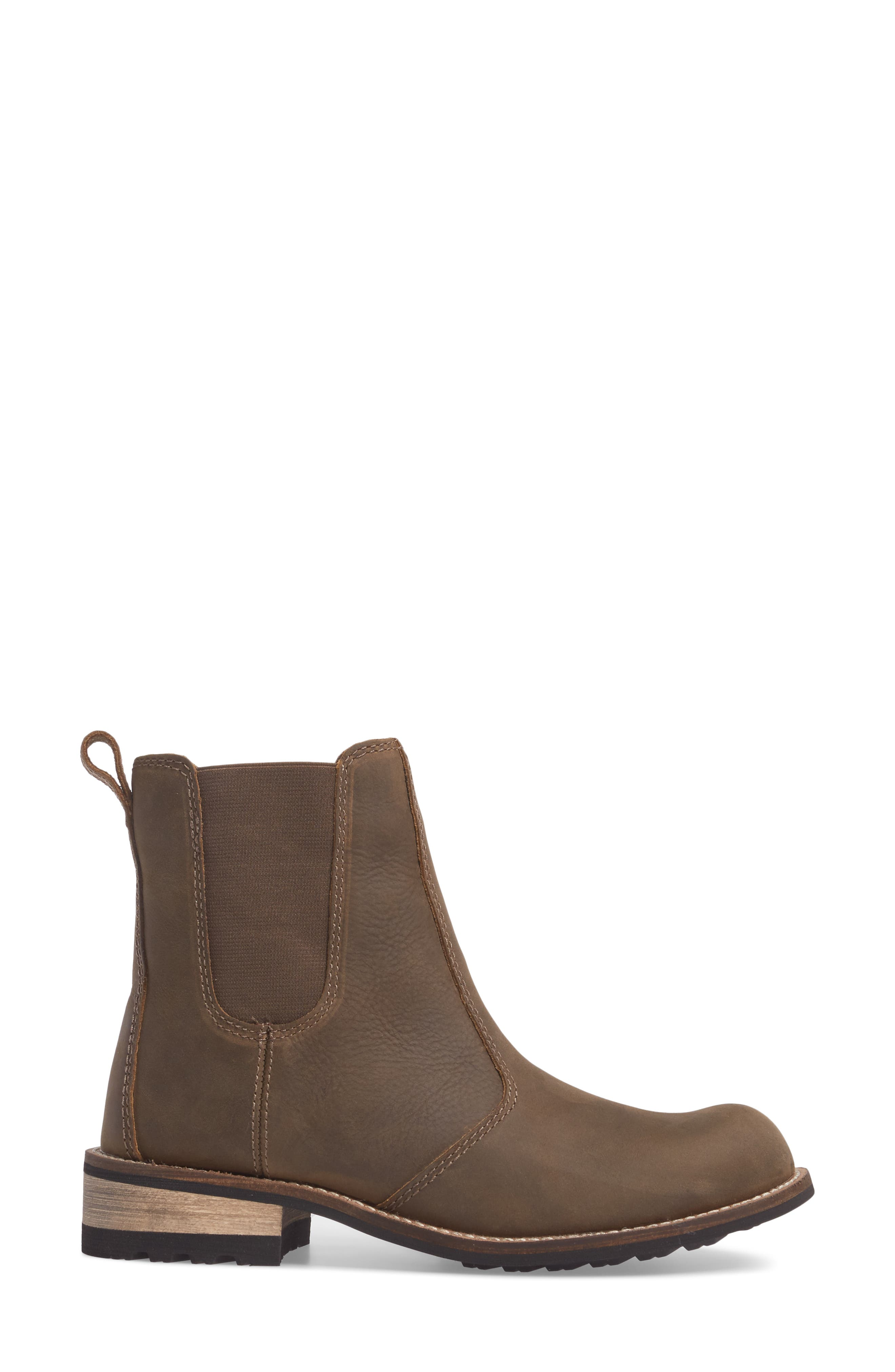 'Alma' Waterproof Chelsea Boot,                             Alternate thumbnail 3, color,                             Olive Leather
