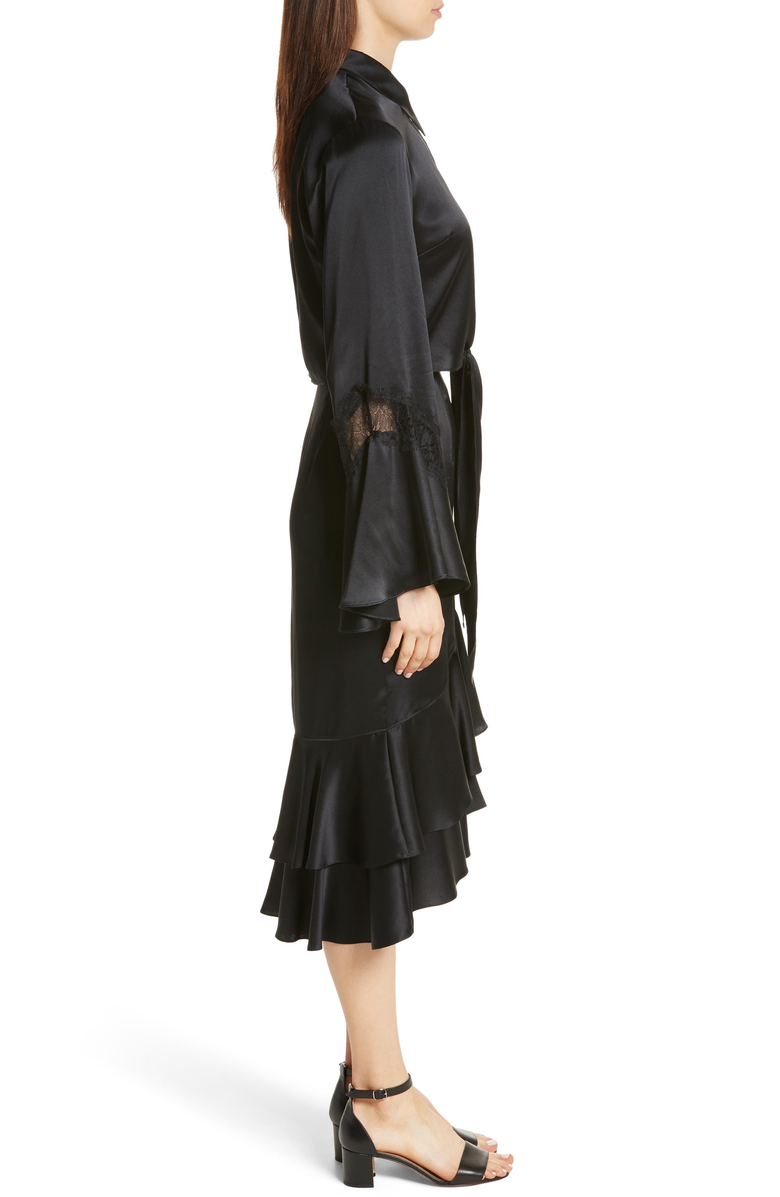Alternate Image 4  - Cinq à Sept Genevieve Lace Inset Silk Satin Top