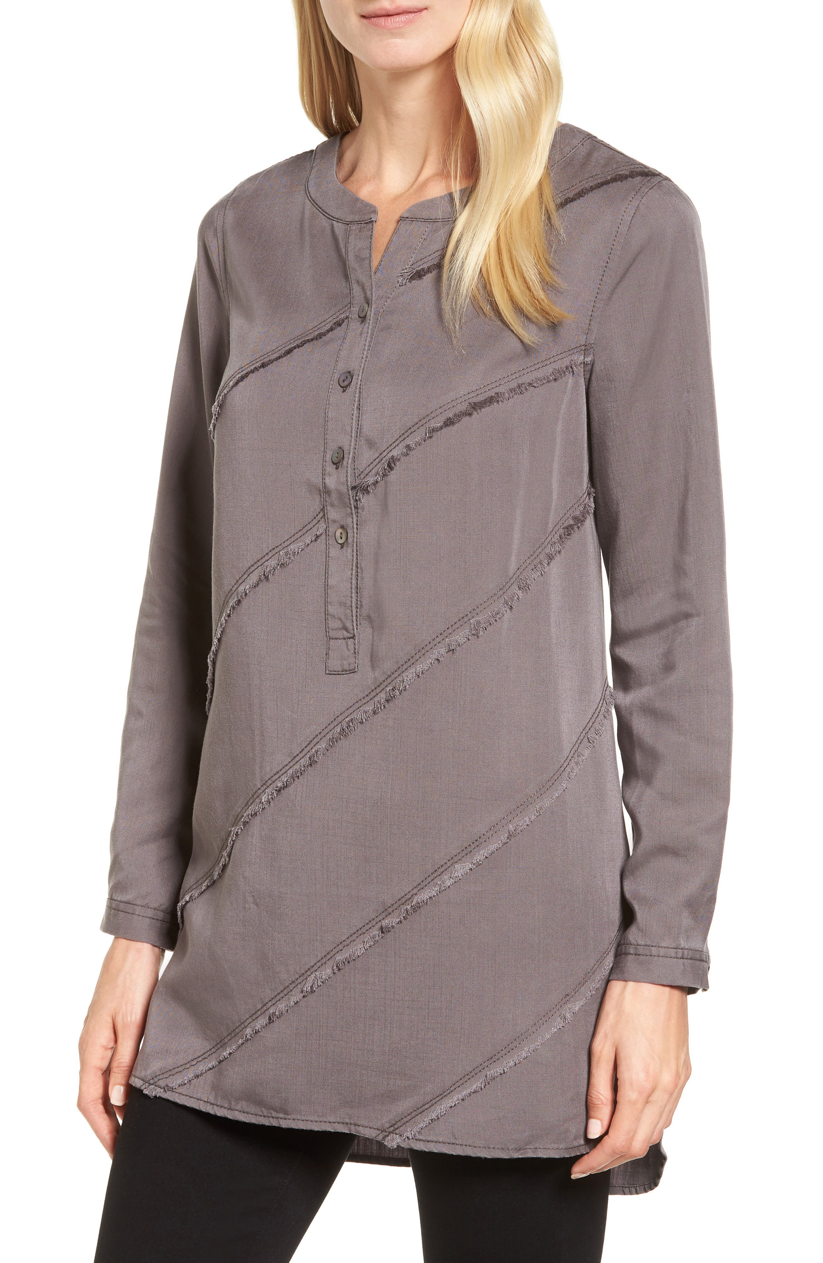Tranquil Tunic Top,                         Main,                         color, Warm Grey