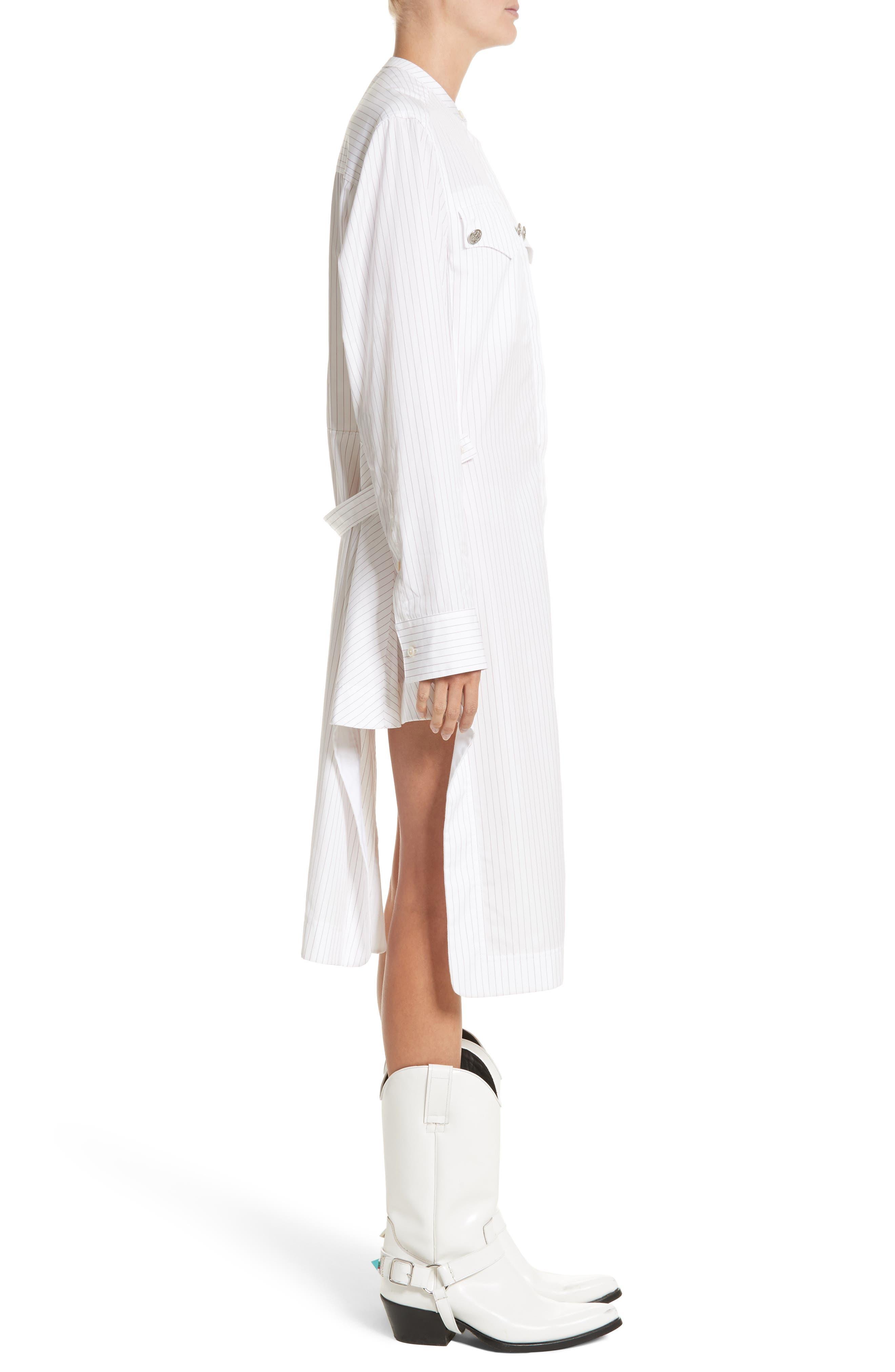 Alternate Image 3  - Calvin Klein 205W39NYC Pinstripe Cotton Poplin Dress