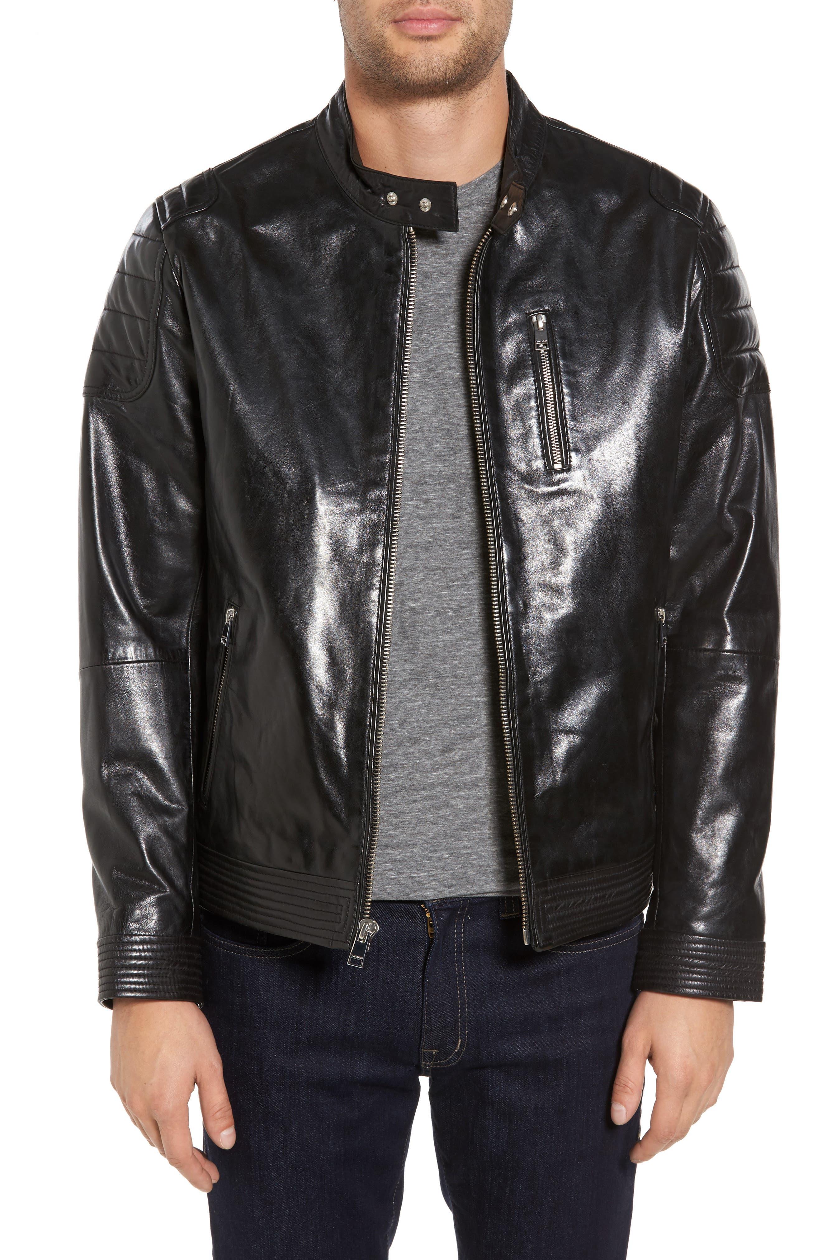 Alternate Image 1 Selected - LAMARQUE Leather Moto Jacket