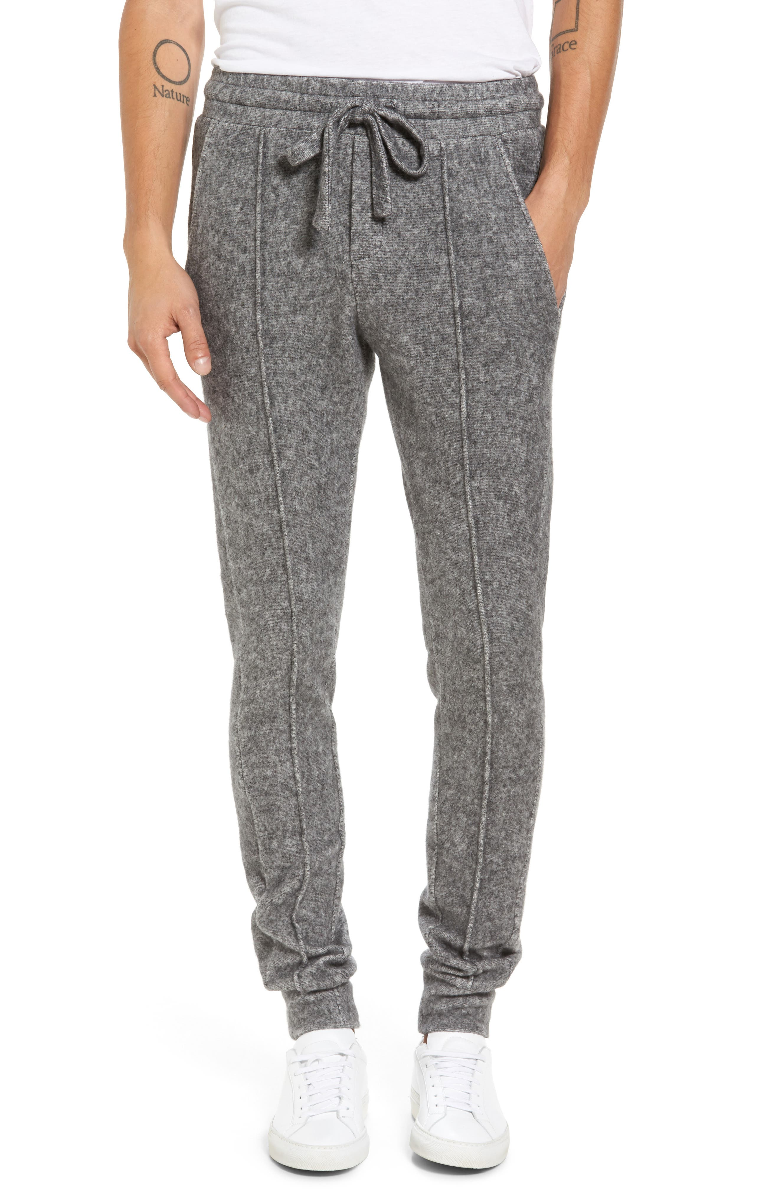 Slim Fleece Jogger Pants,                         Main,                         color, Heather Grey