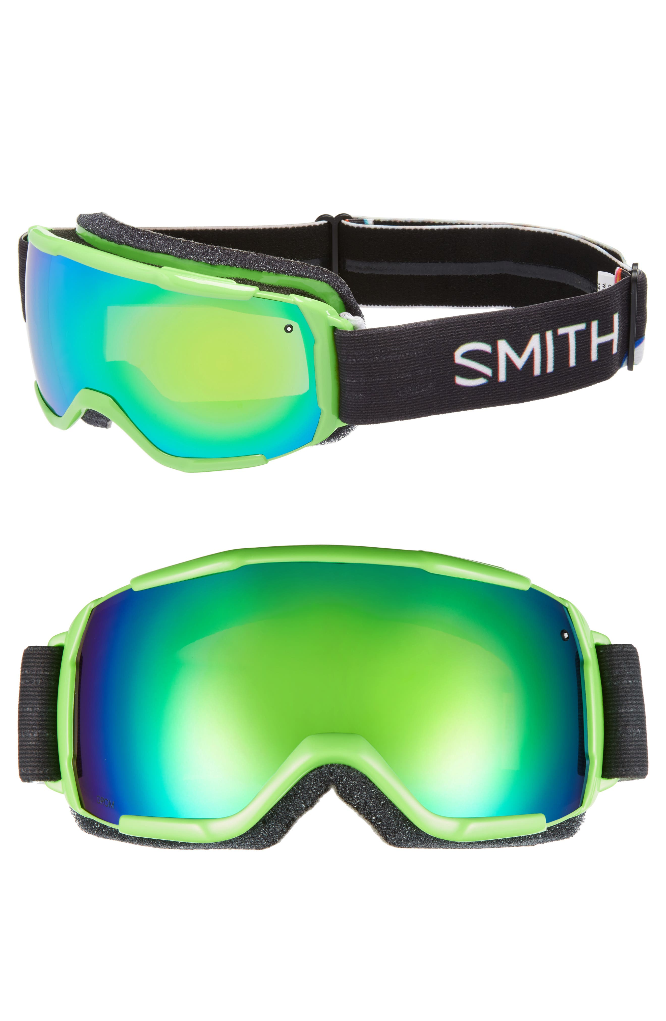 Grom Snow Goggles,                             Main thumbnail 1, color,                             Reactor Tracking/ Mirror