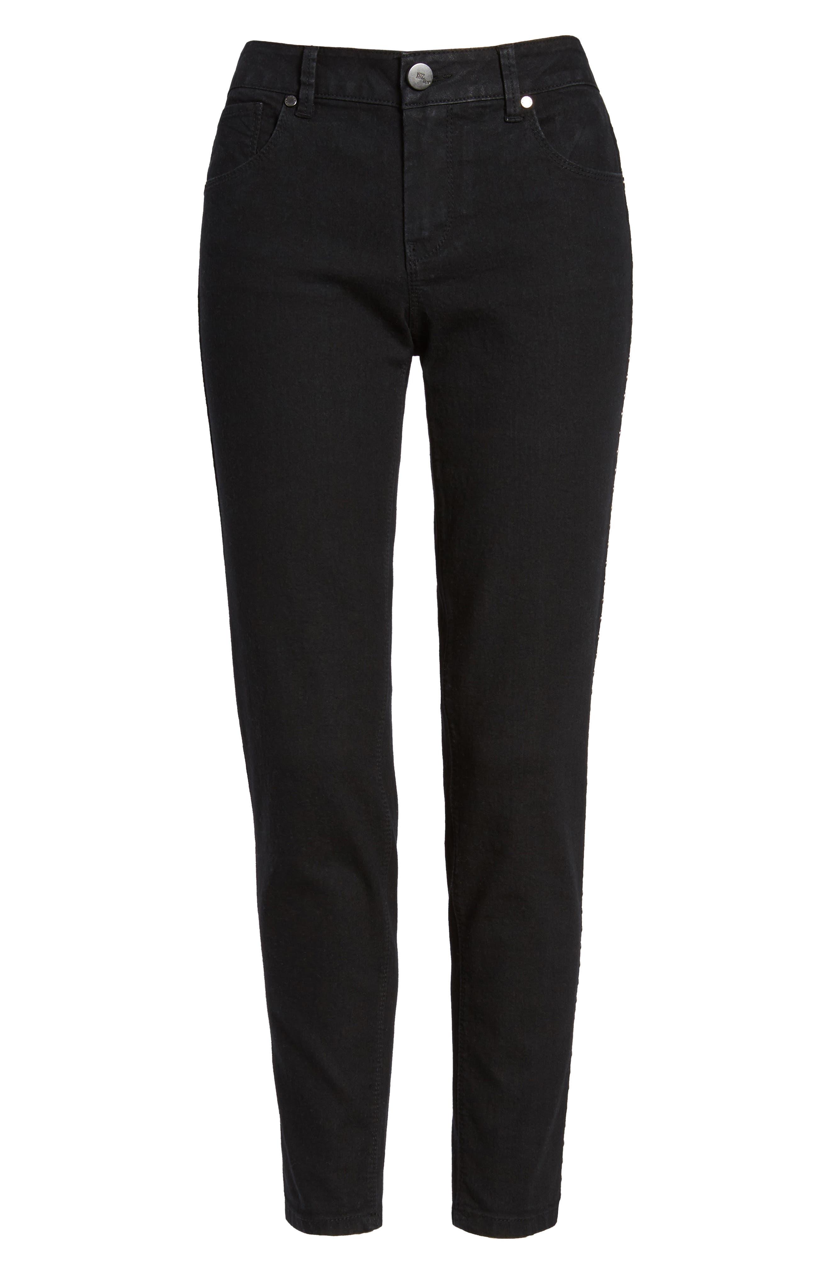 Alternate Image 6  - 1822 Denim Studded Skinny Jeans