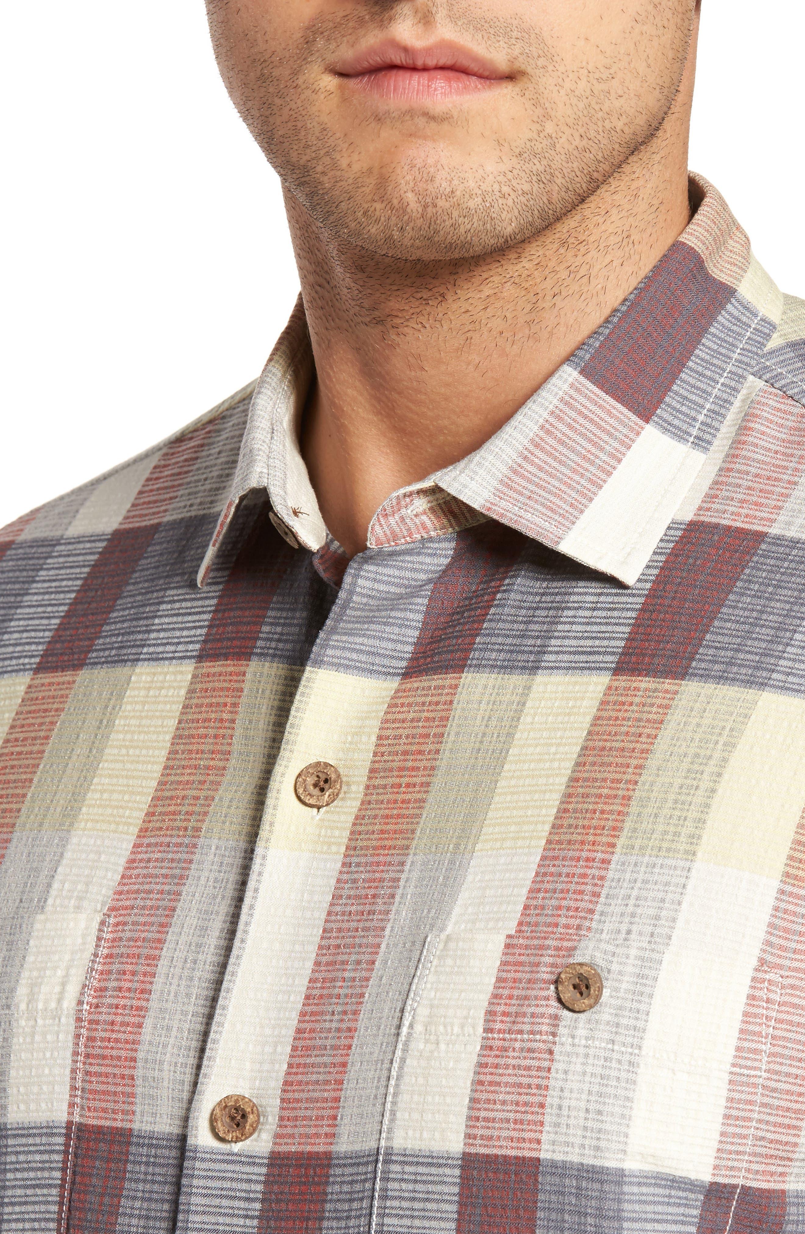 Tamuda Bay Plaid Silk Blend Camp Shirt,                             Alternate thumbnail 4, color,                             Twill
