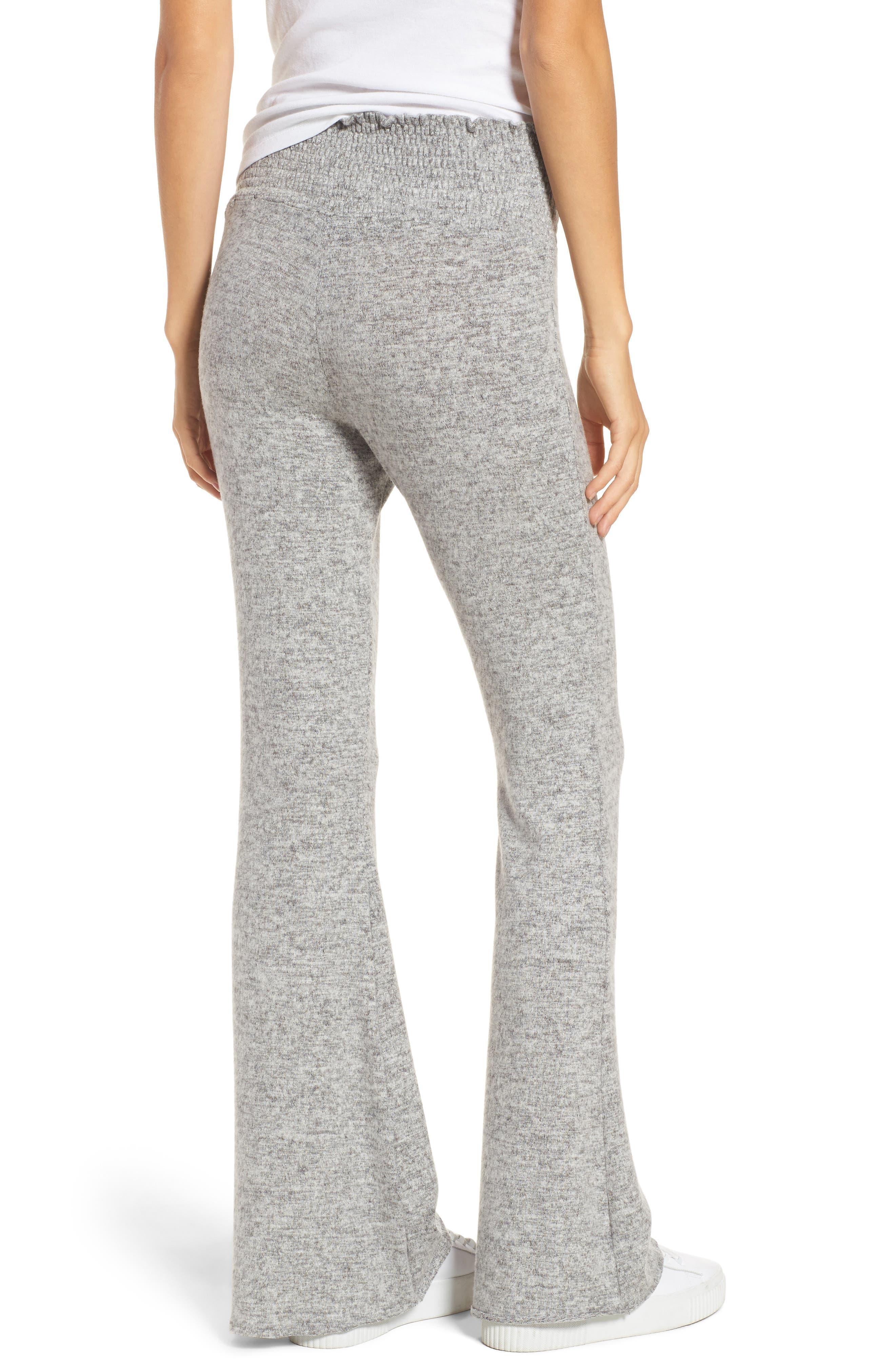 Alternate Image 2  - Hinge Smocked Waist Flare Leg Sweatpants