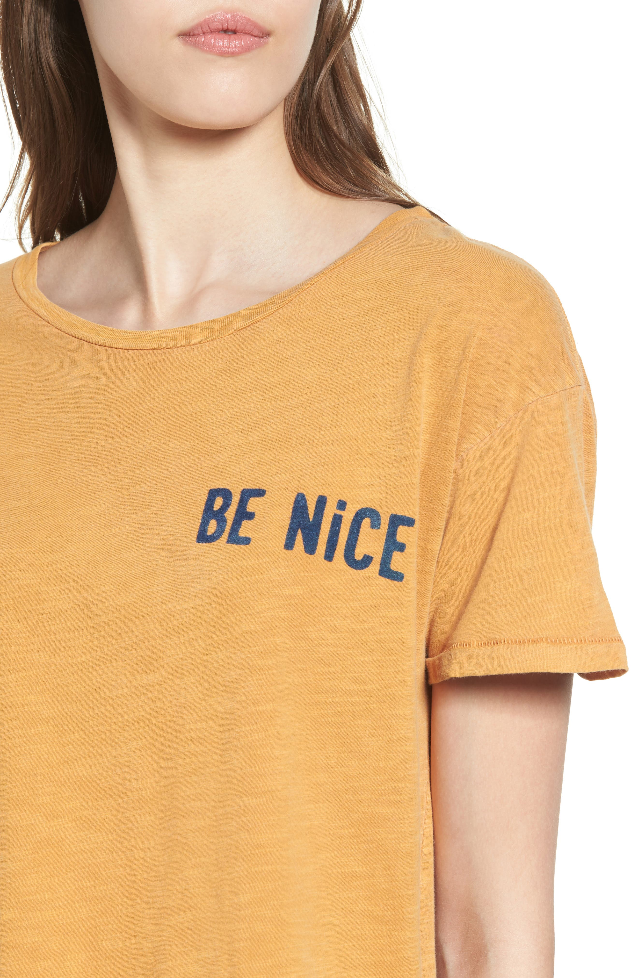 Be Nice Tee,                             Alternate thumbnail 4, color,                             Amber