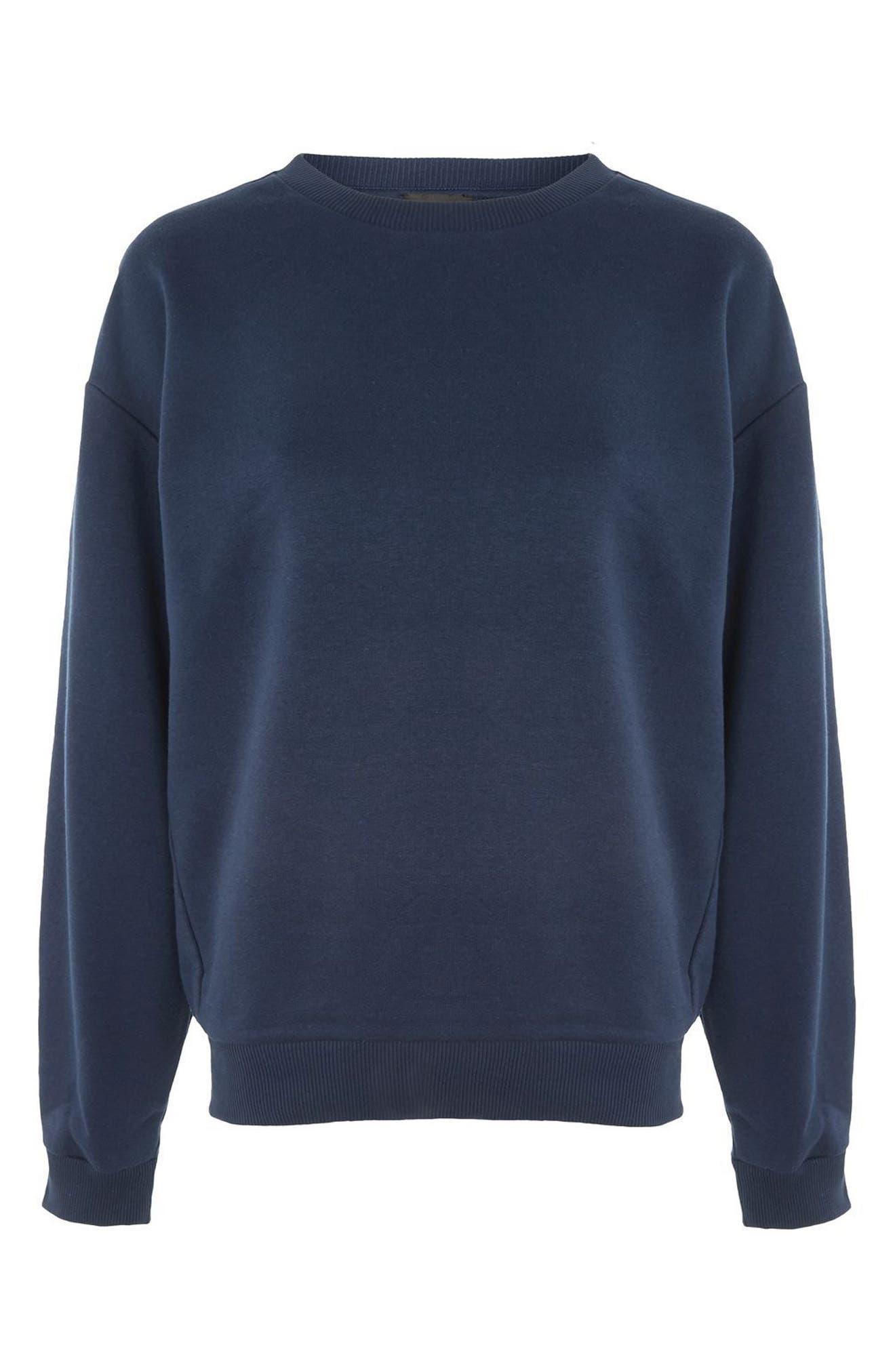 Alternate Image 4  - Topshop Sloppy Sweatshirt