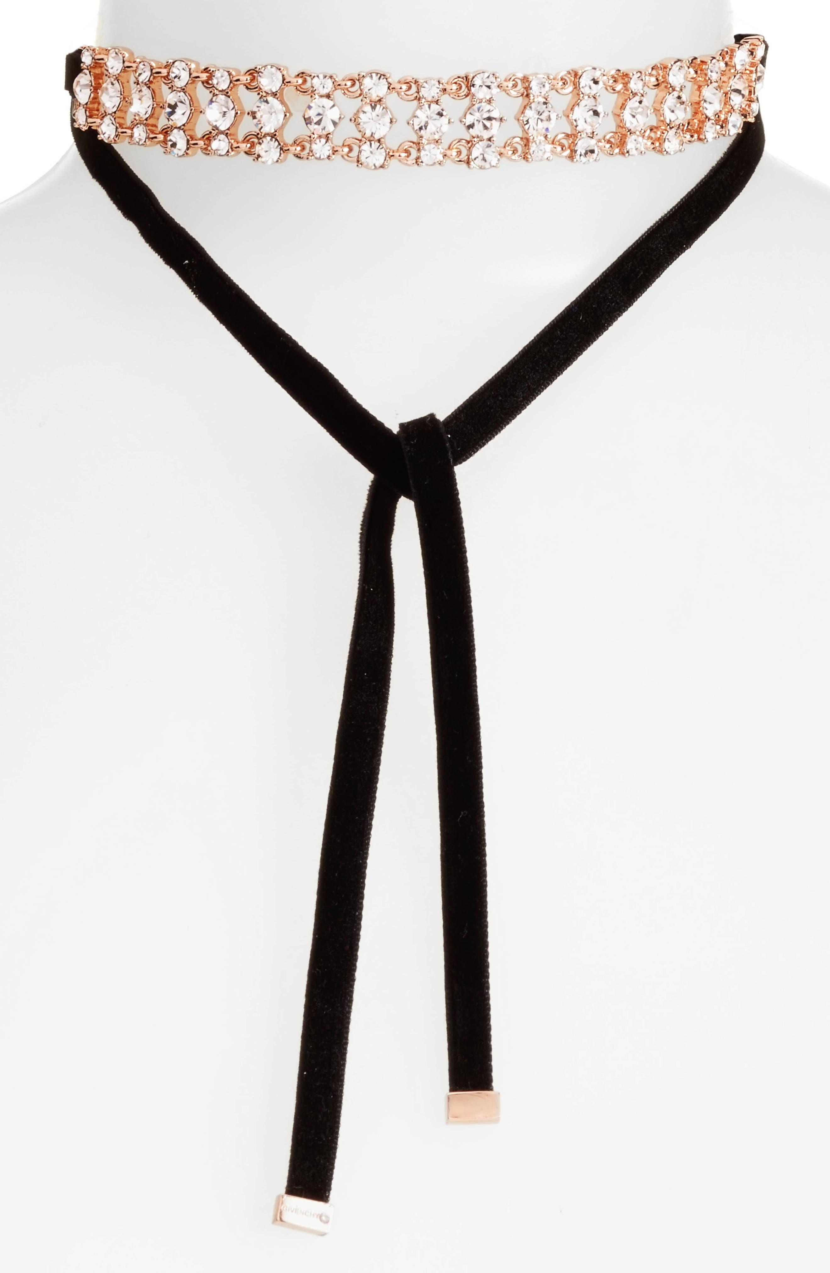 Givenchy Velvet Choker Necklace