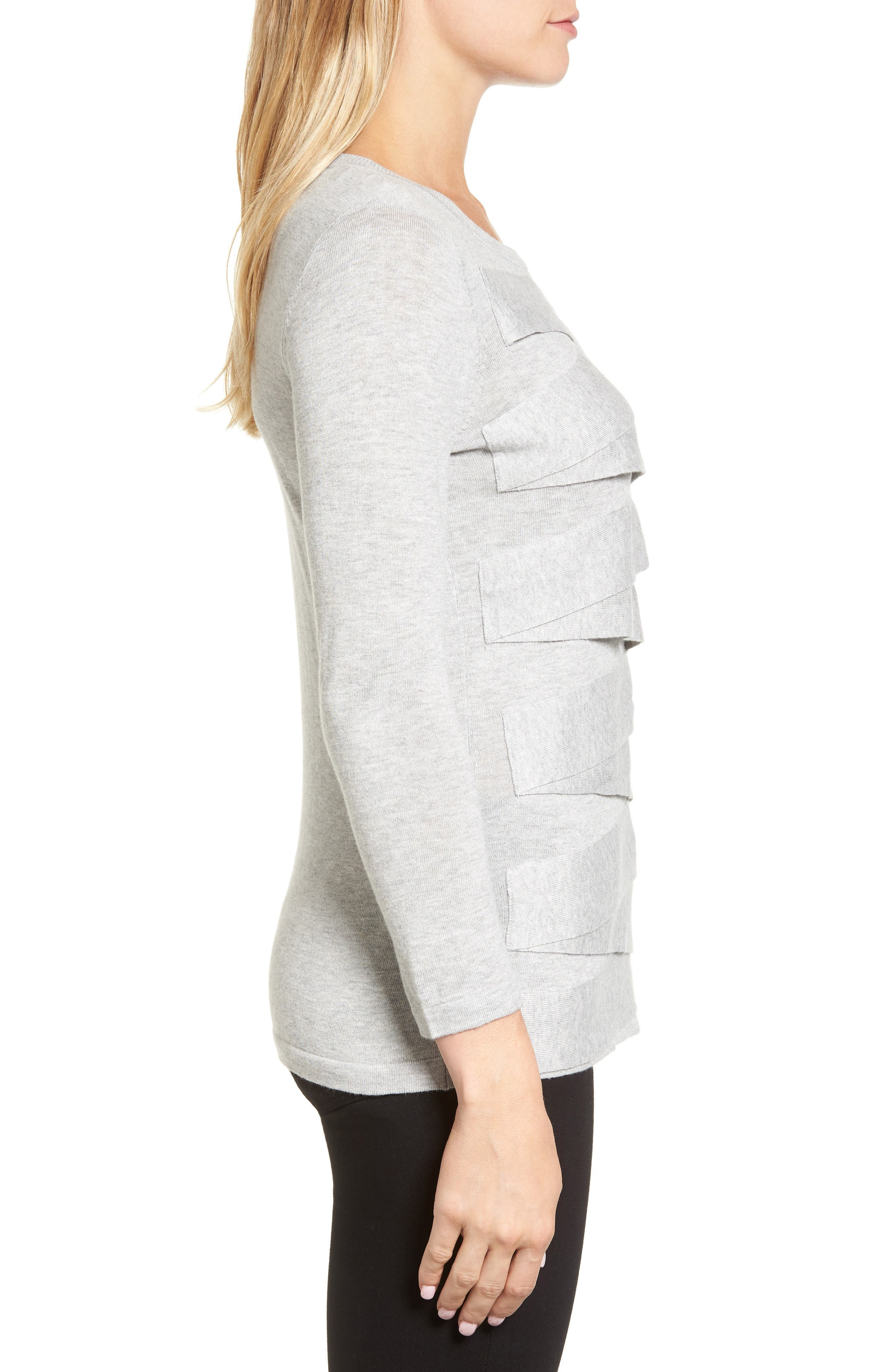 Zigzag Sweater,                             Alternate thumbnail 3, color,                             Grey Heather