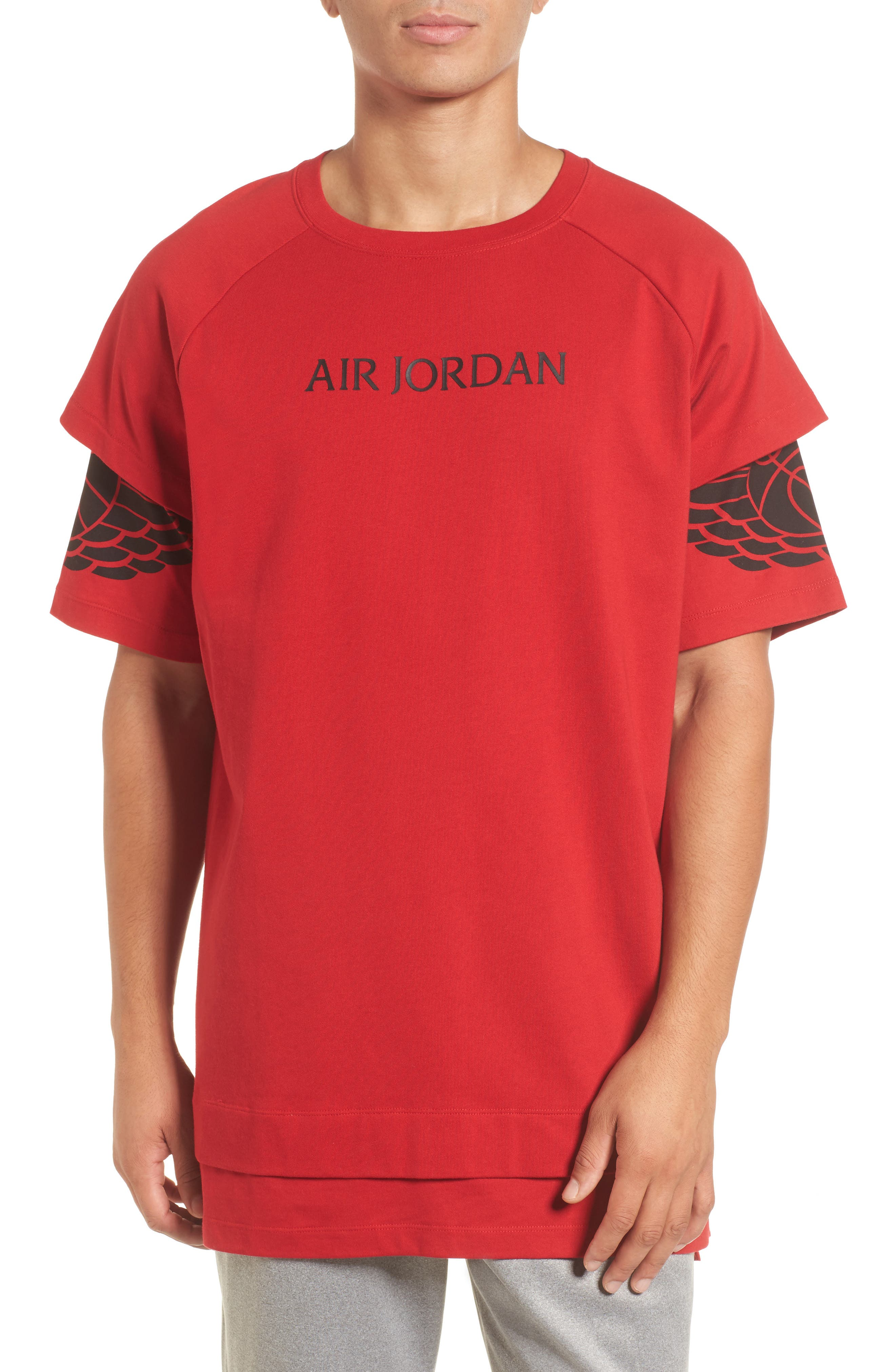 Sportswear Dry Modern Logo T-Shirt,                         Main,                         color, Gym Red