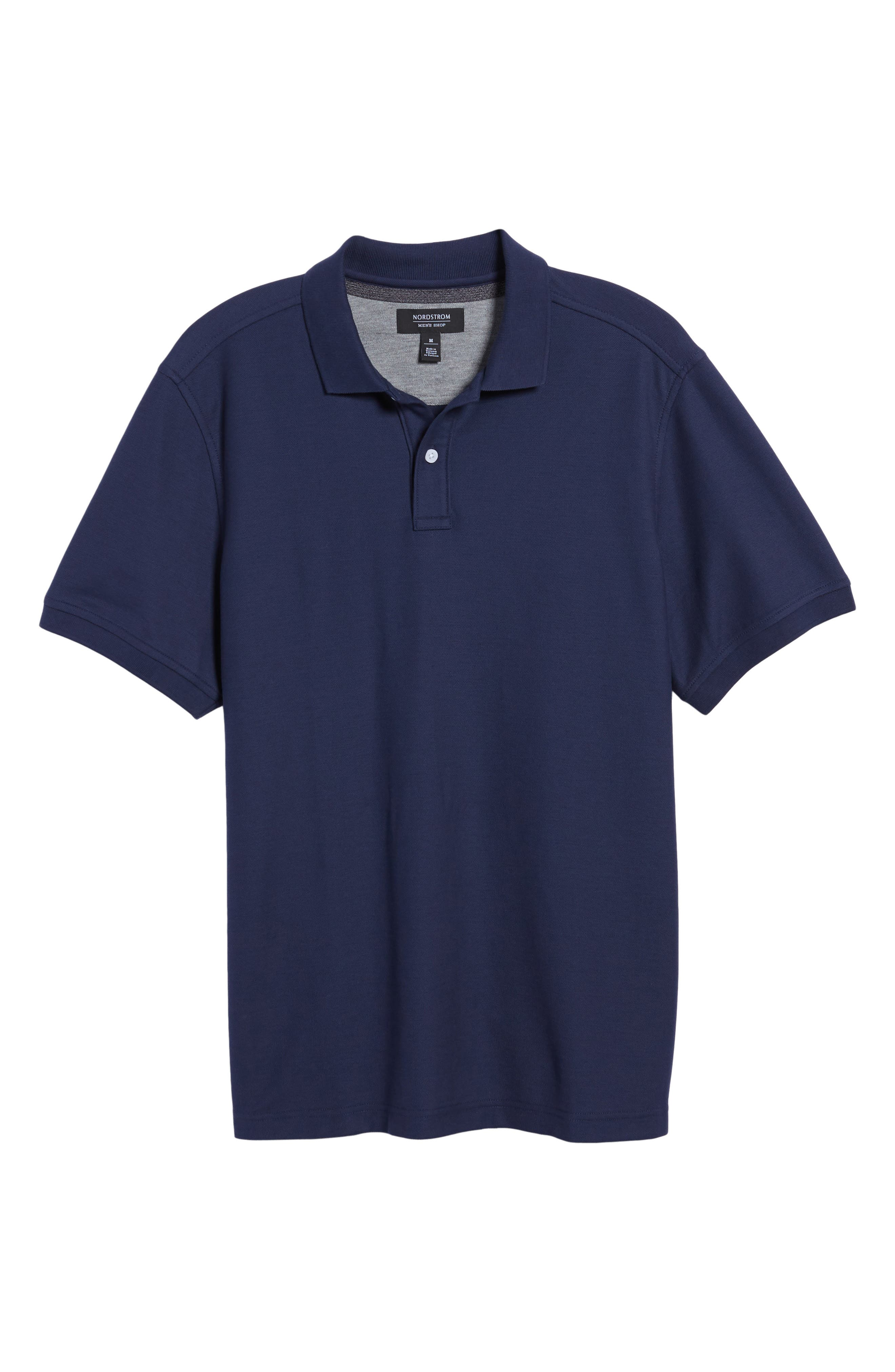 Alternate Image 6  - Nordstrom Men's Shop Piqué Polo