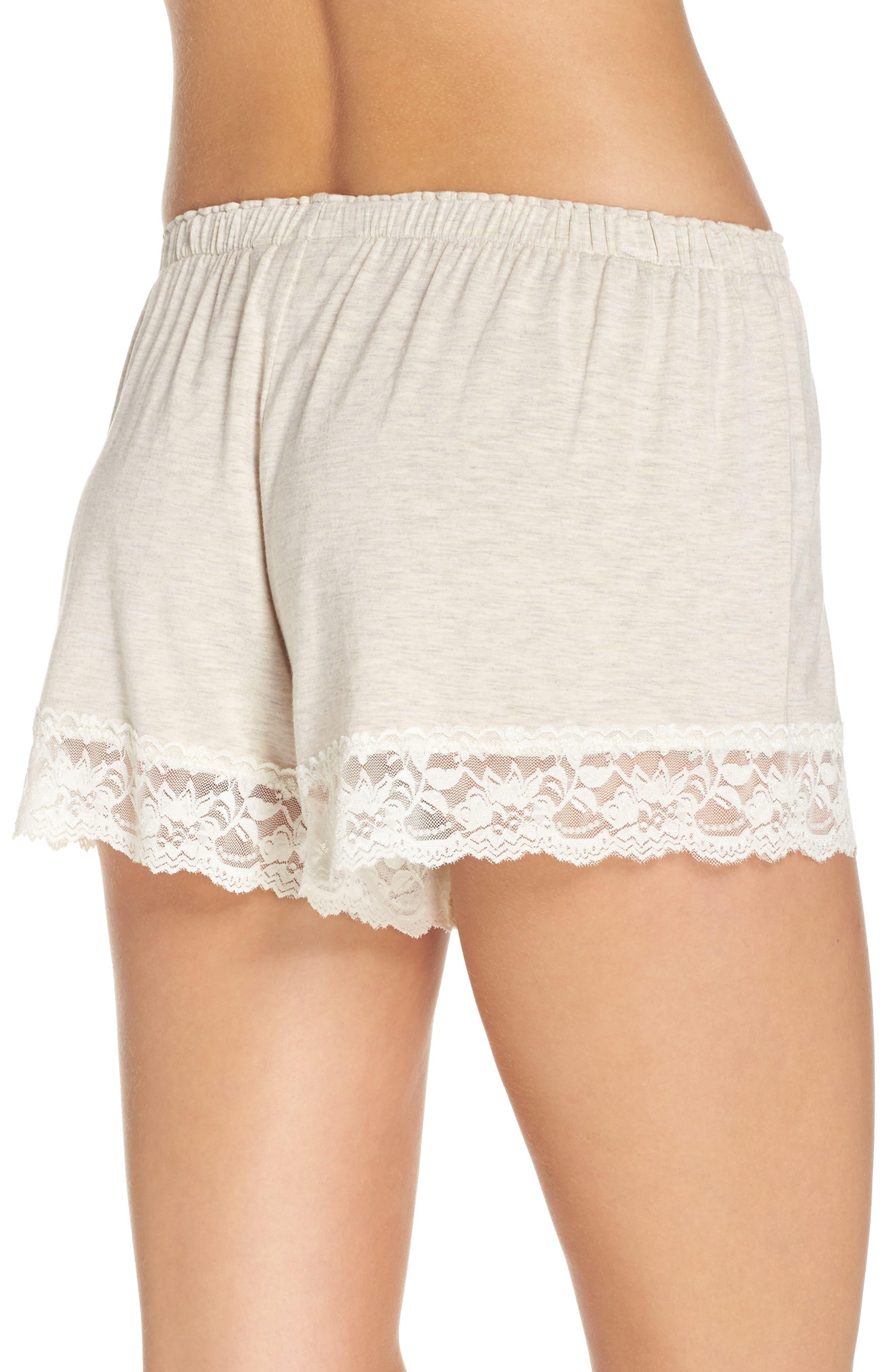 Flora Nikrooz Snuggle Lounge Shorts,                             Alternate thumbnail 3, color,                             Oatmeal