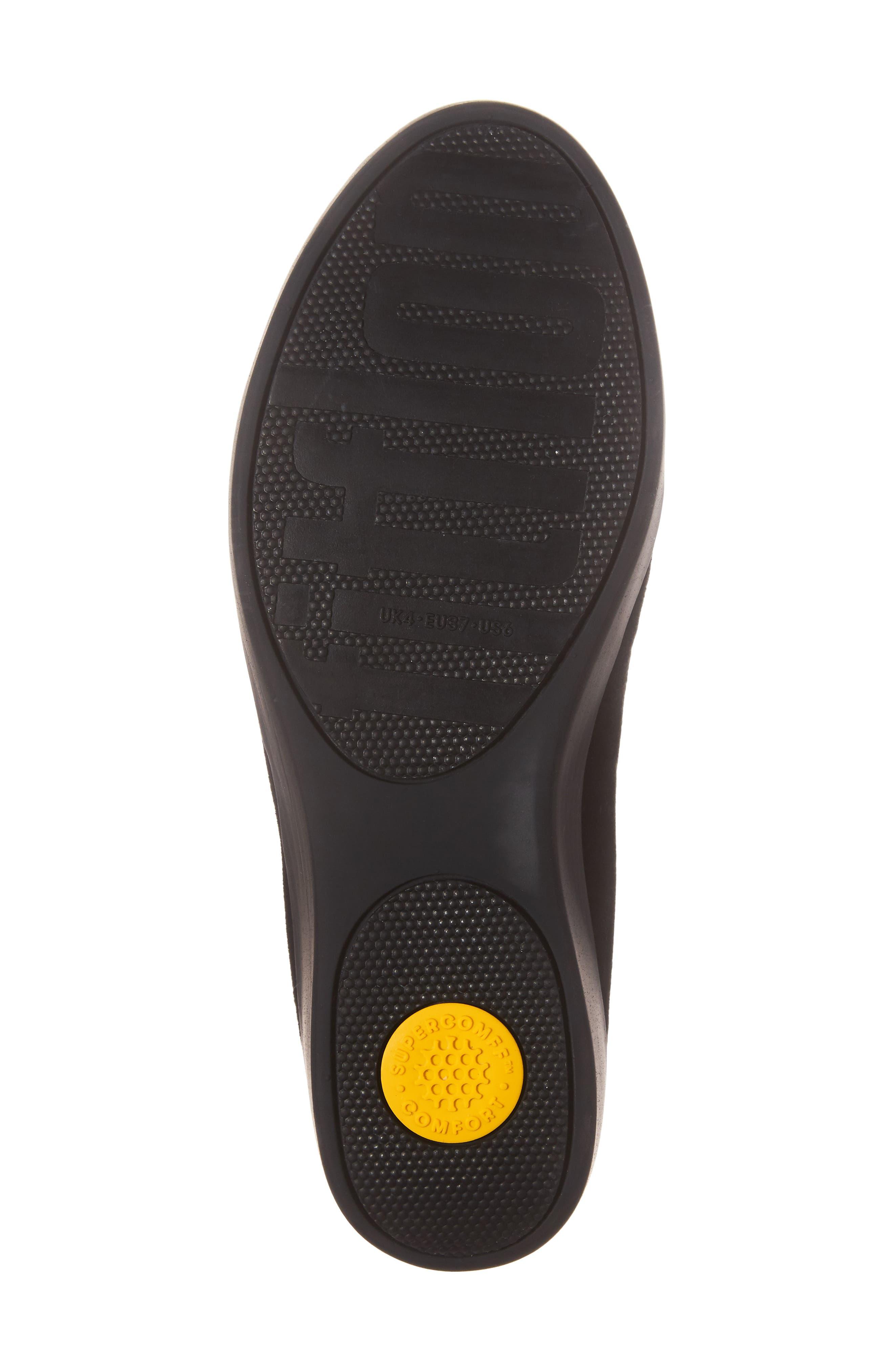 Tassel Bow Sneakerloafer<sup>™</sup> Water Repellent Flat,                             Alternate thumbnail 6, color,                             All Black