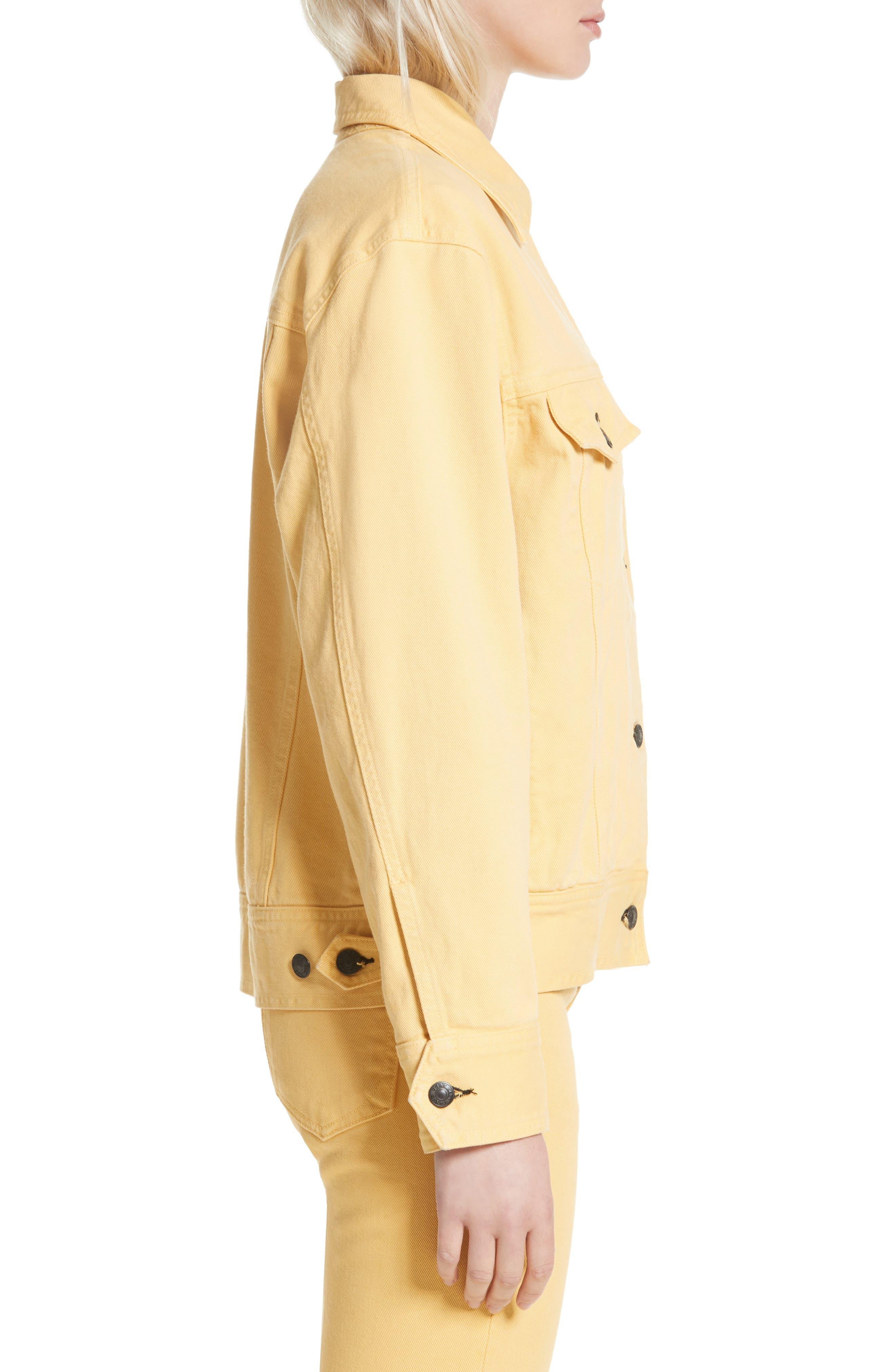 rag & bone Oversize Twill Jacket,                             Alternate thumbnail 3, color,                             Sunrise
