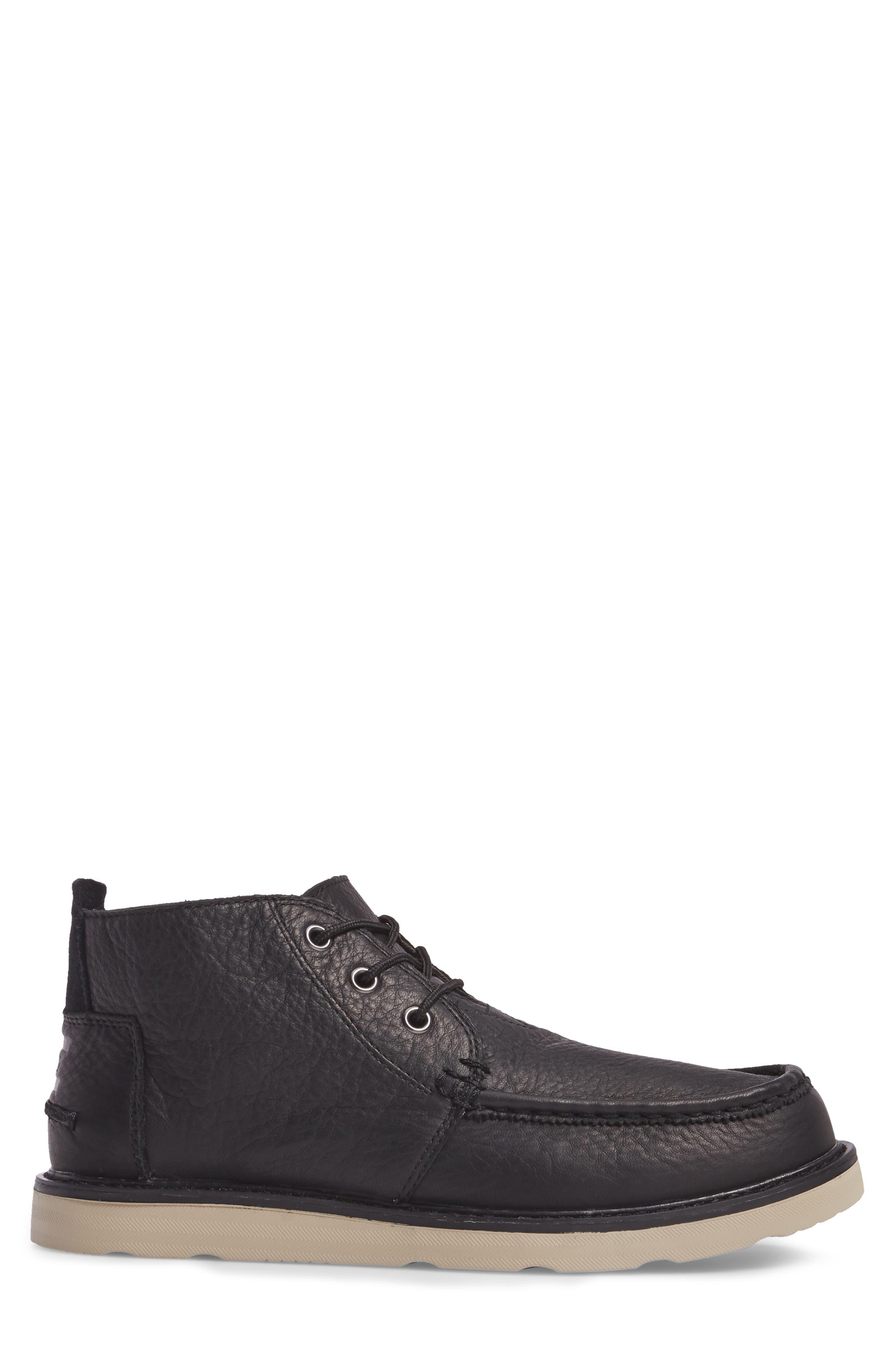 Chukka Boot,                             Alternate thumbnail 3, color,                             Black/Black Leather