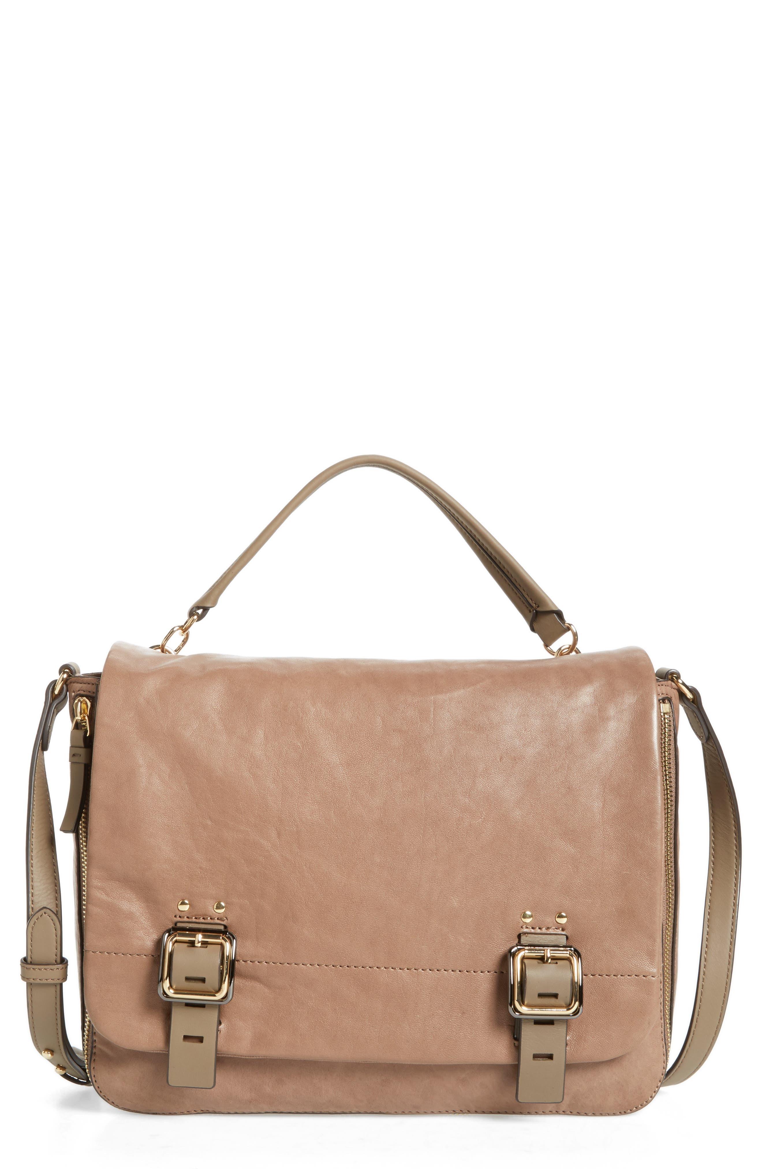Main Image - Vince Camuto Delos Leather Messenger Bag (Nordstrom Exclusive)