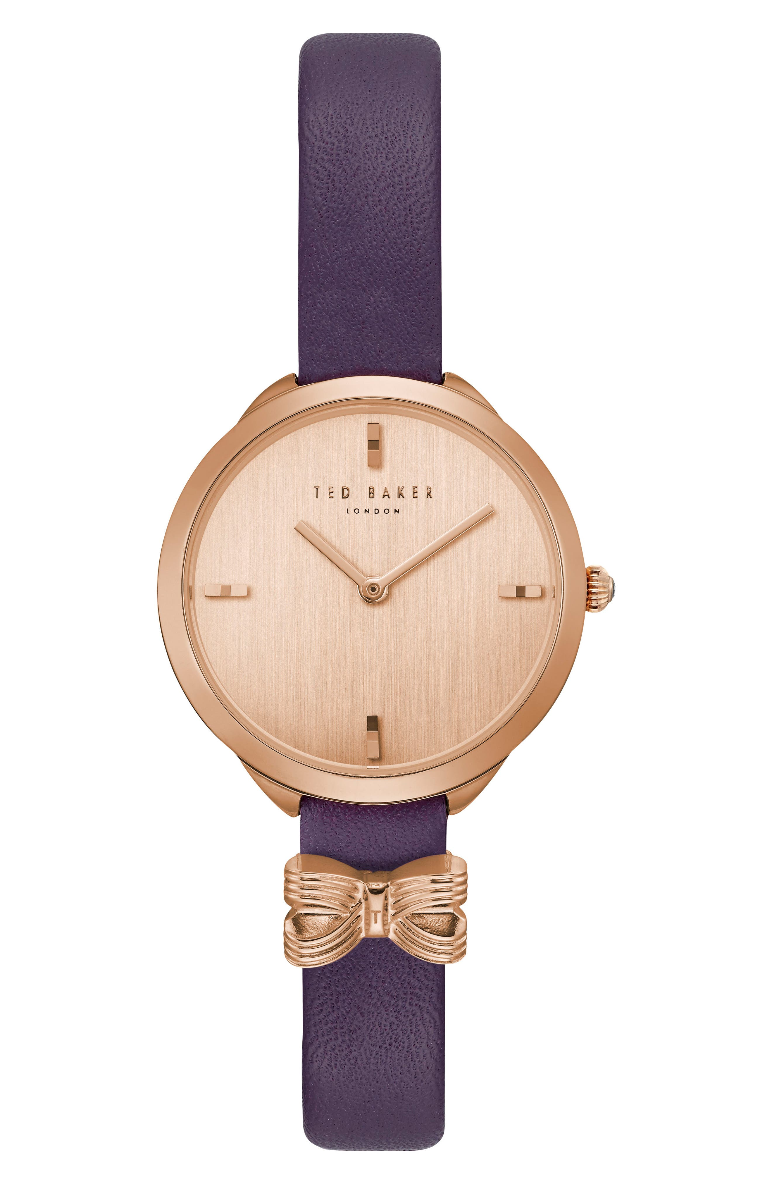 Ted Baker London Elana Leather Strap Watch, 30mm
