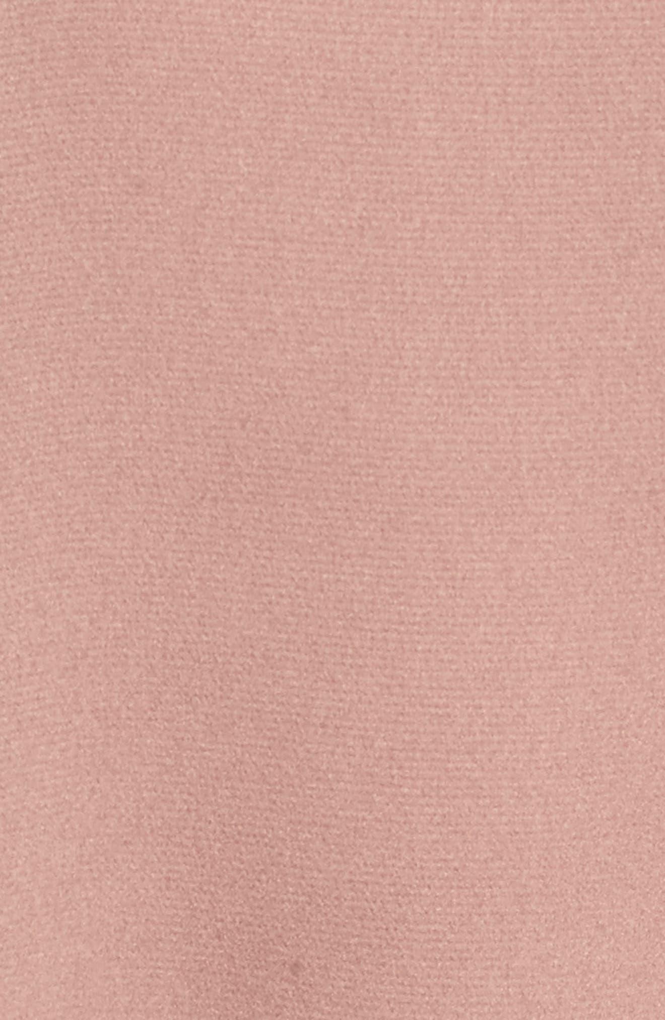 Ruffle Sleeve Satin Top,                             Alternate thumbnail 5, color,                             Mauve