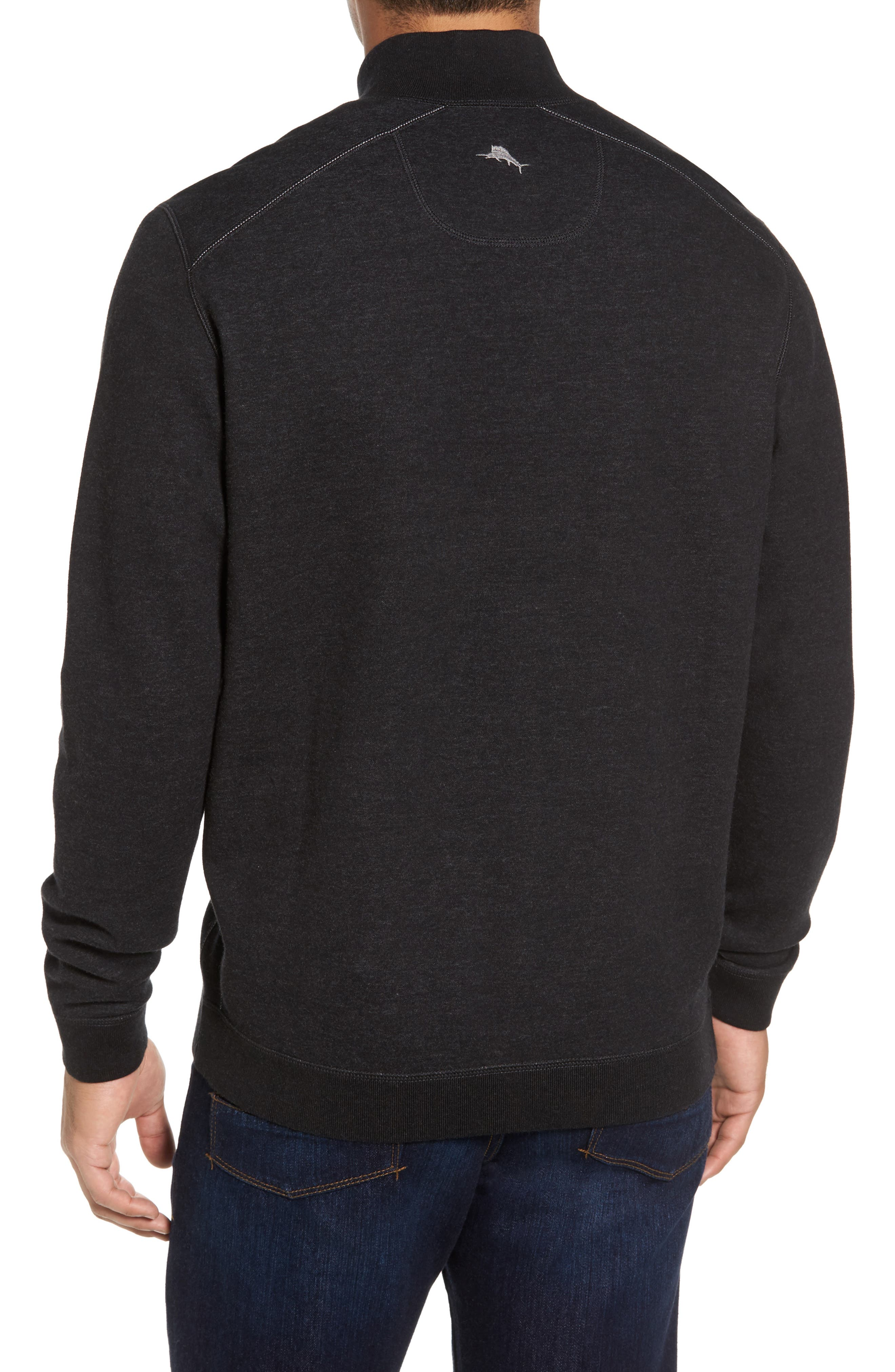 Flip Drive Quarter Zip Pullover,                             Alternate thumbnail 2, color,                             Black