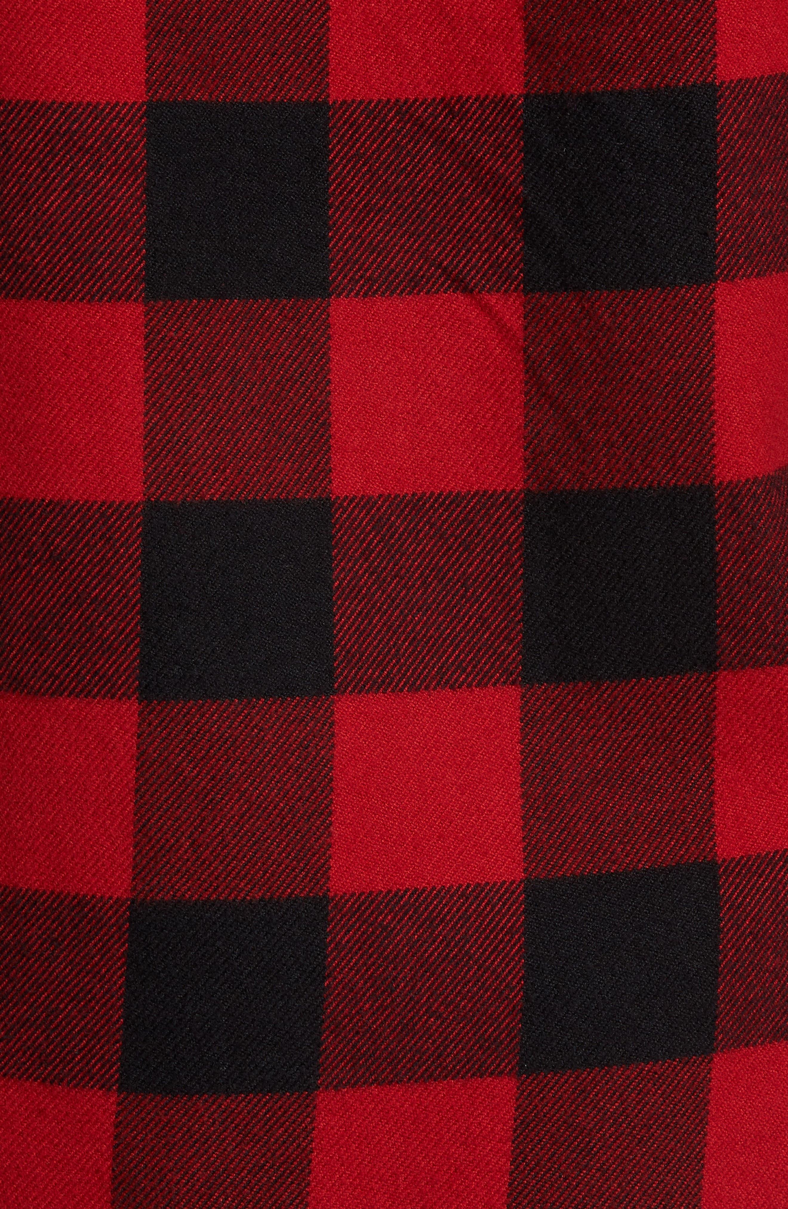 Buffalo Check Shirt Jacket,                             Alternate thumbnail 5, color,                             Buffalo Plaid
