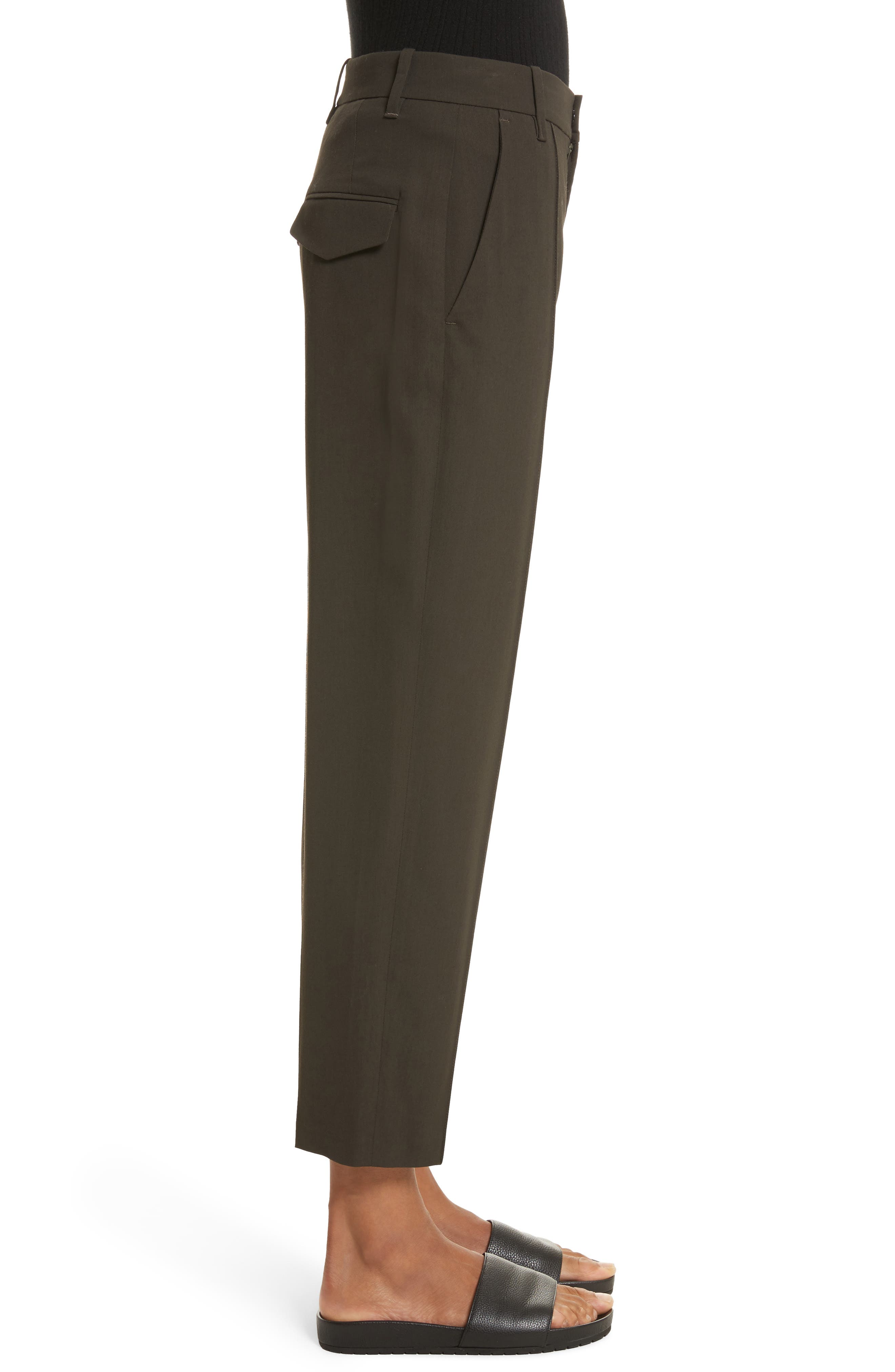 Stitch Front Pants,                             Alternate thumbnail 3, color,                             Olive