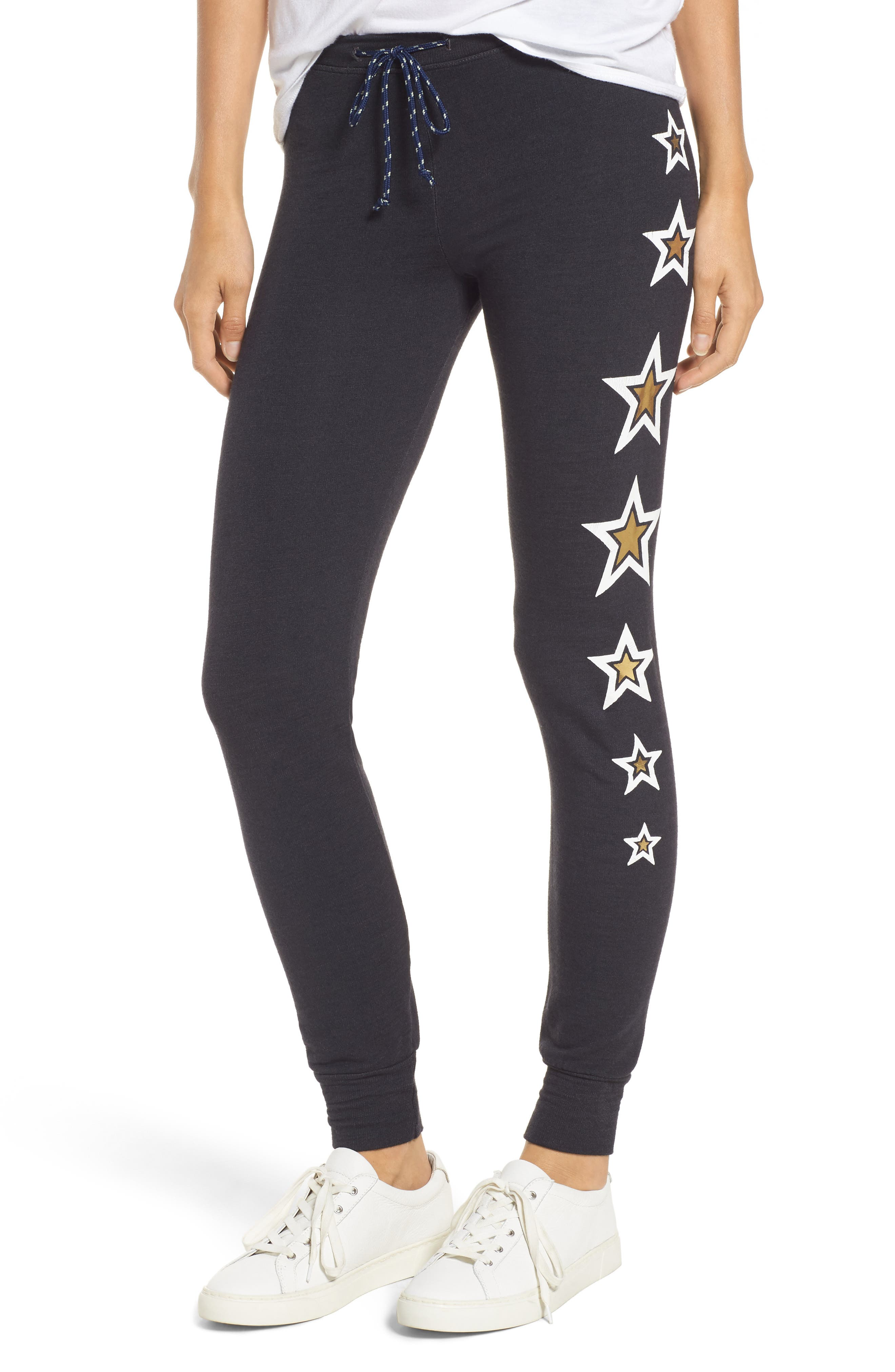 Alternate Image 1 Selected - Sundry Star Print Skinny Pants