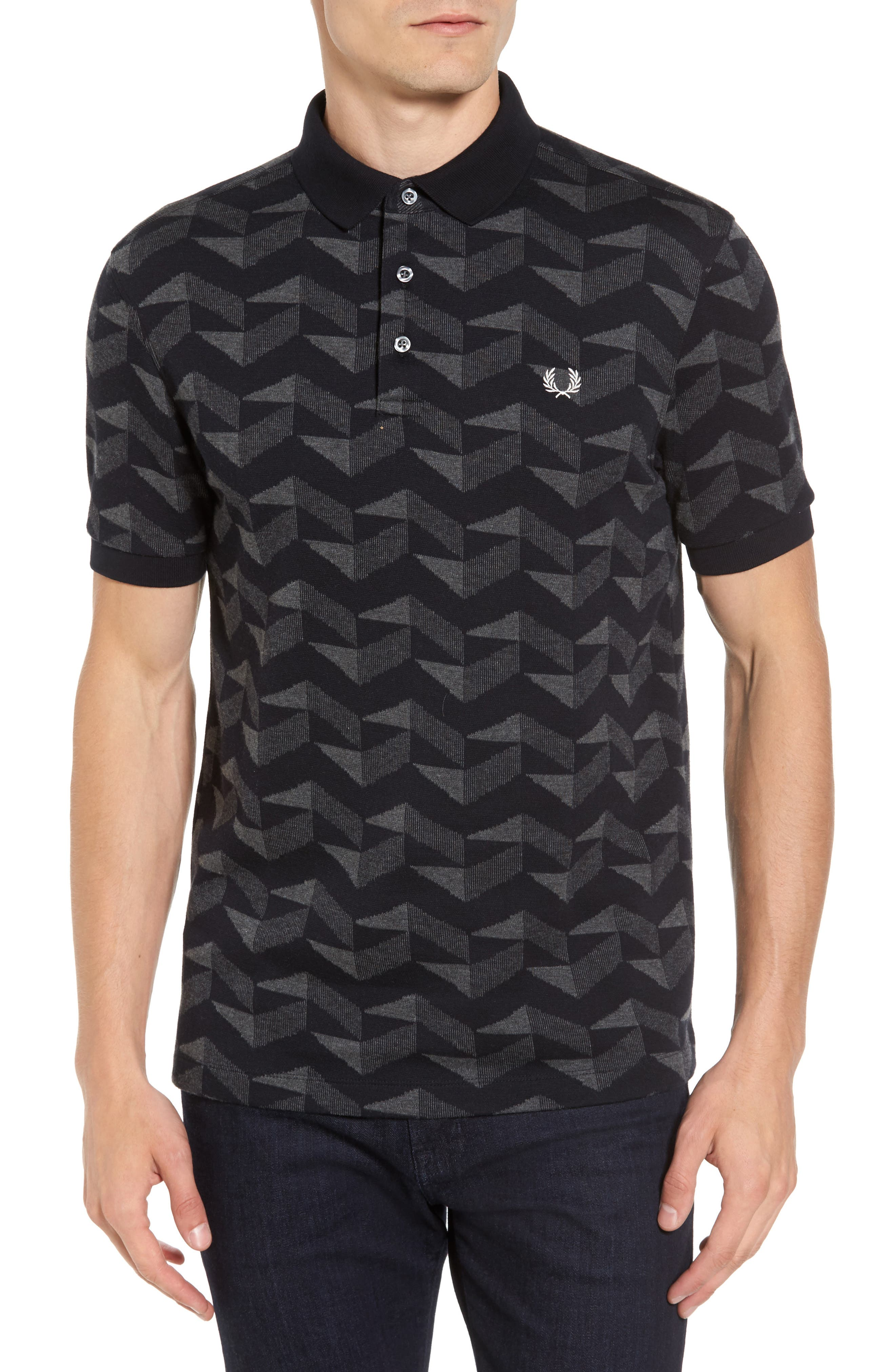 Main Image - Fred Perry Jacquard Piqué Polo