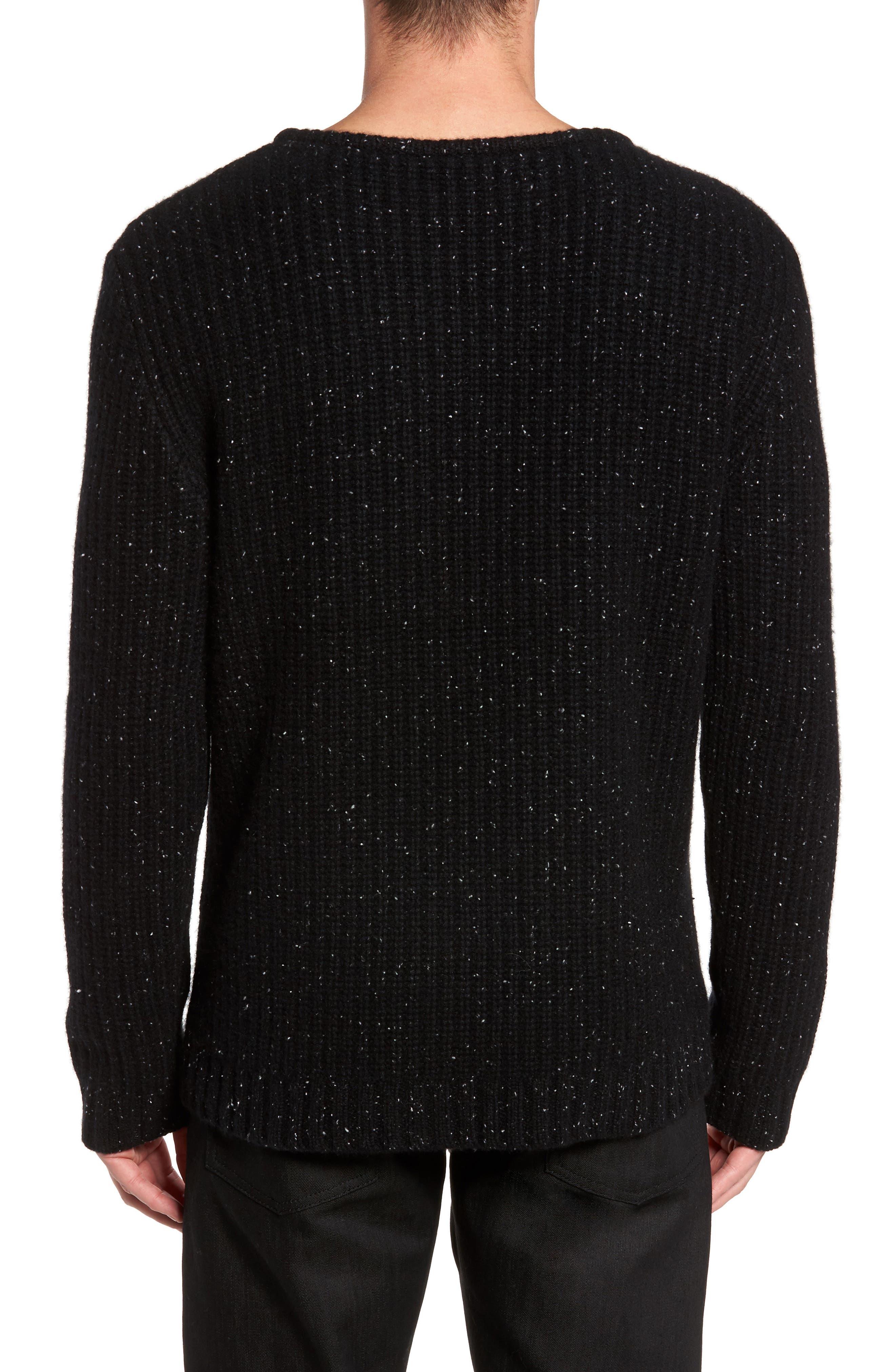 Oversize Cashmere Sweater,                             Alternate thumbnail 2, color,                             Noir