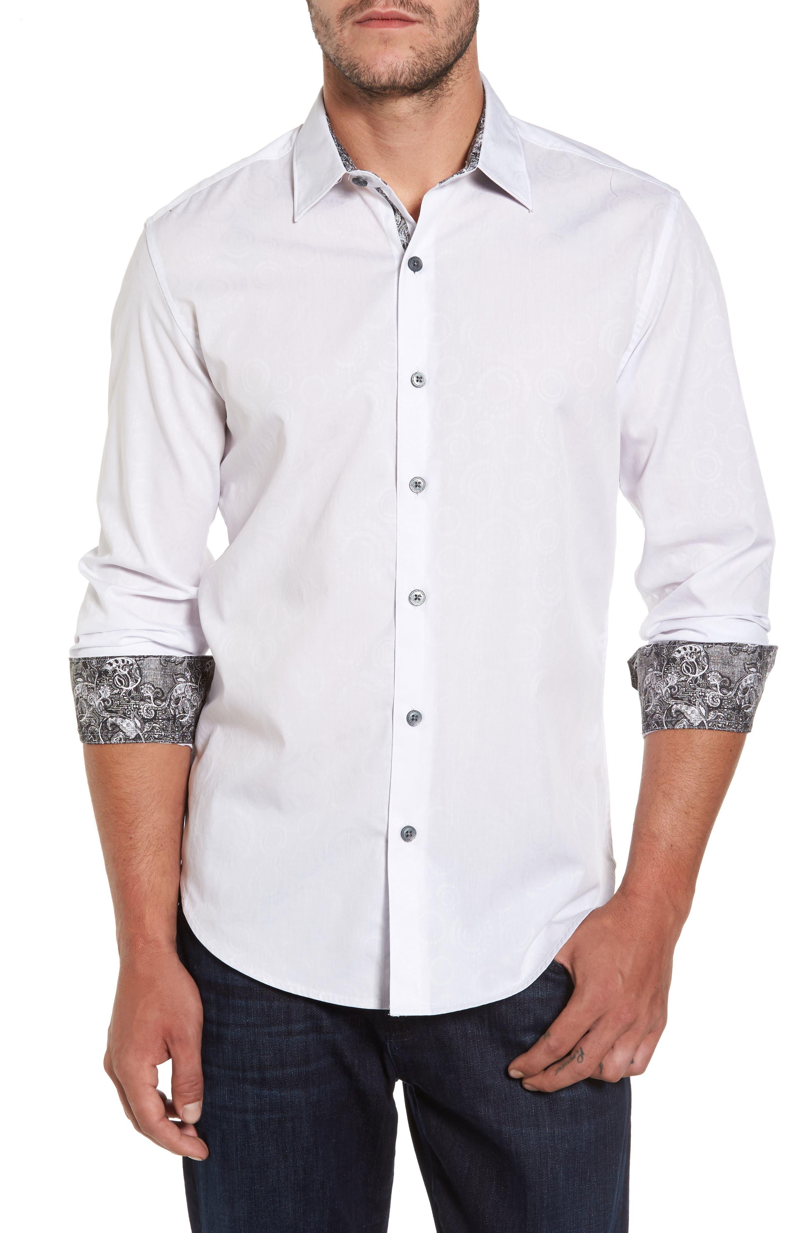 Binghampton Regular Fit Sport Shirt,                             Main thumbnail 1, color,                             White