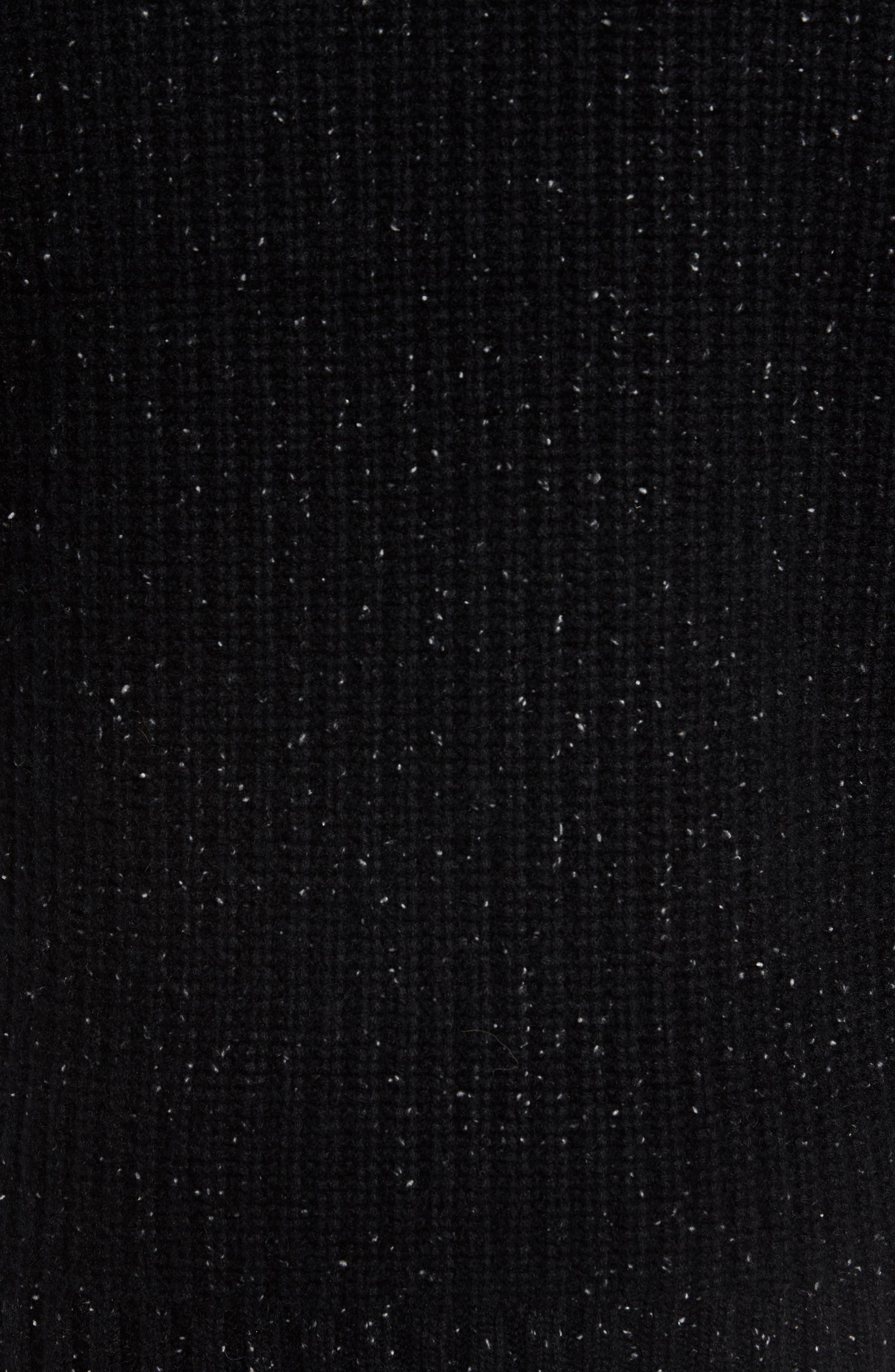 Oversize Cashmere Sweater,                             Alternate thumbnail 5, color,                             Noir