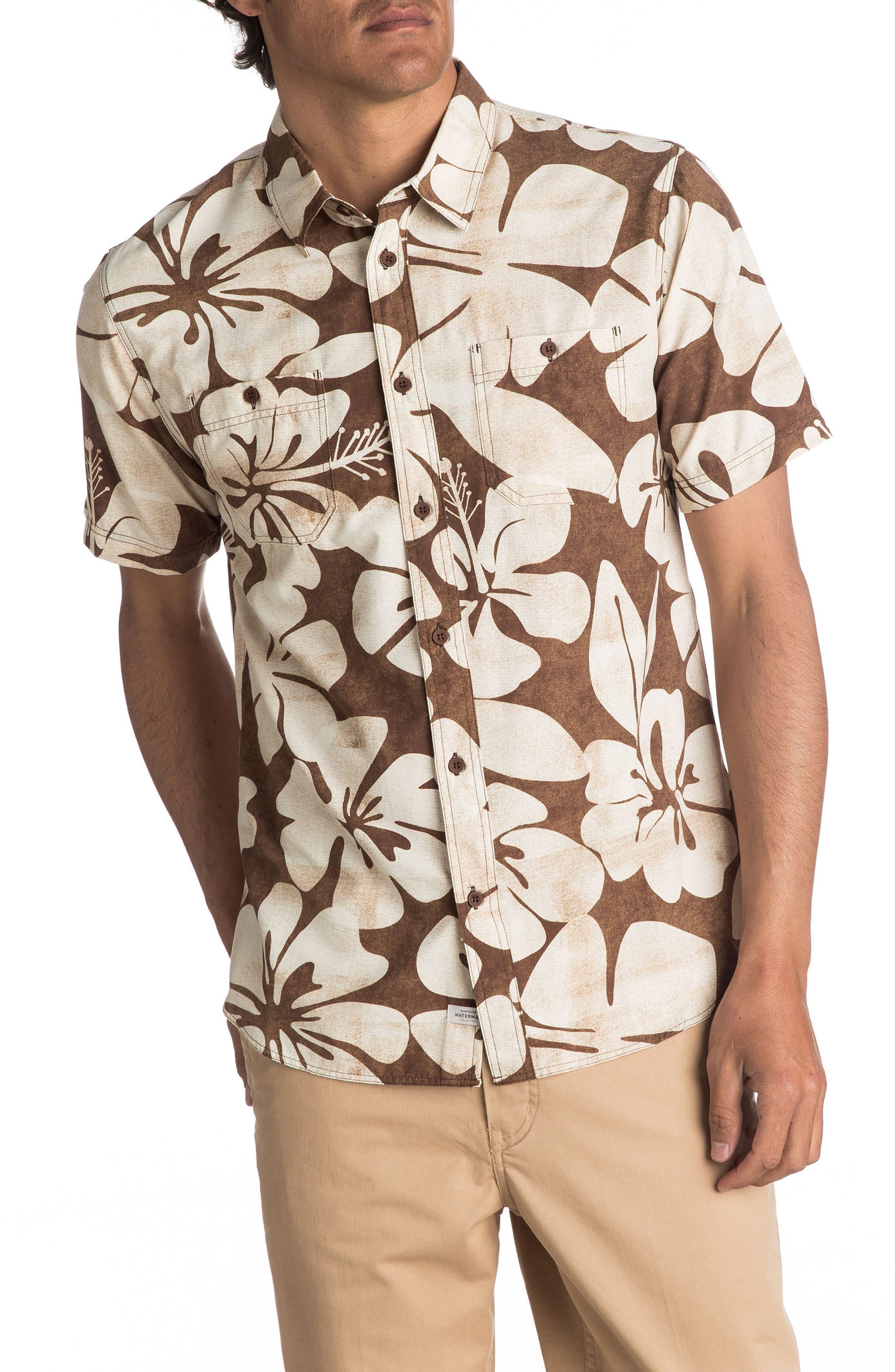 Alternate Image 1 Selected - Quiksilver Waterman Collection Wake Idyll Print Sport Shirt