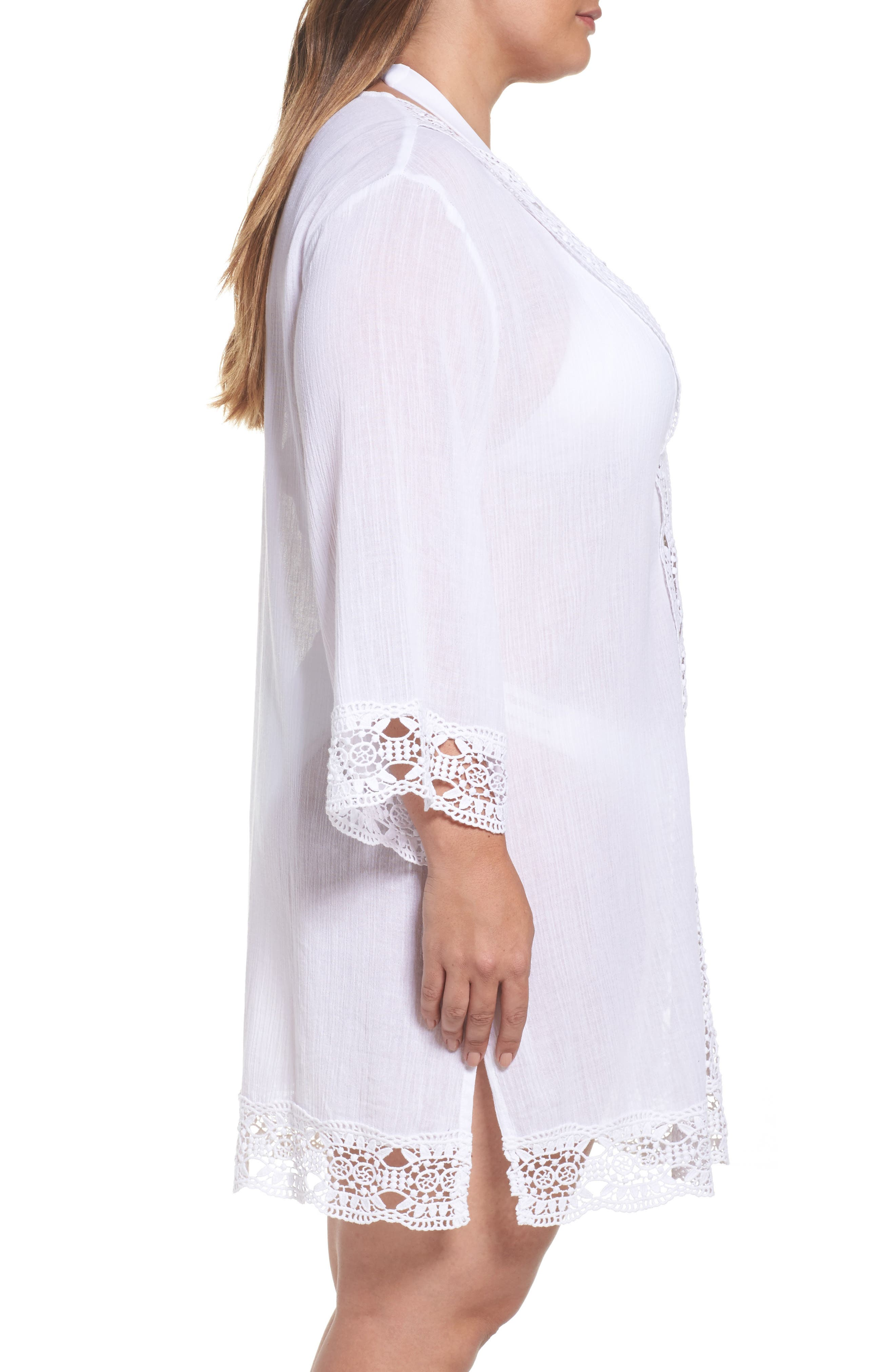 Island Fare Cover-Up Tunic,                             Alternate thumbnail 3, color,                             White