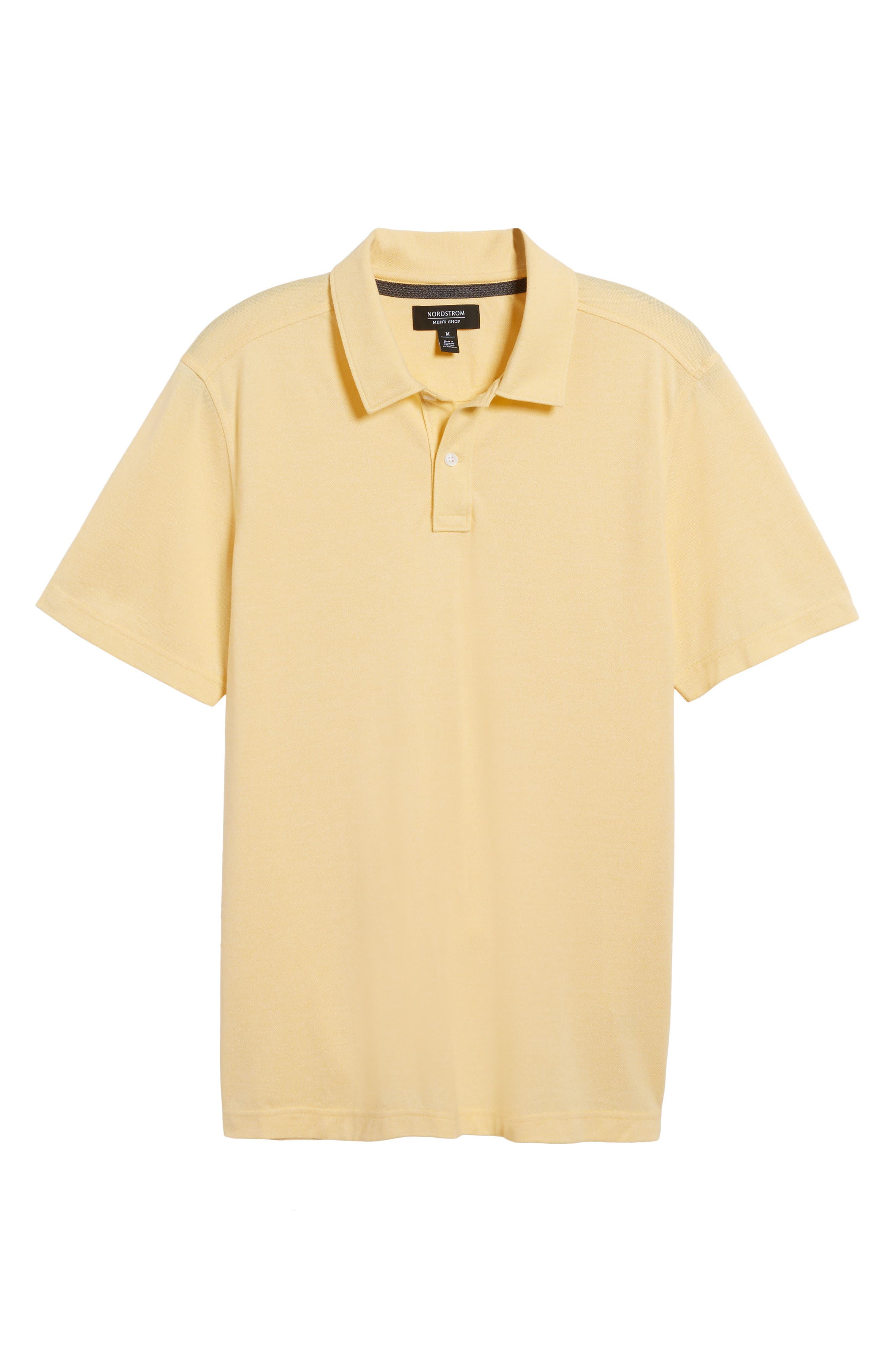Regular Fit Polo,                             Alternate thumbnail 6, color,                             Yellow Silk