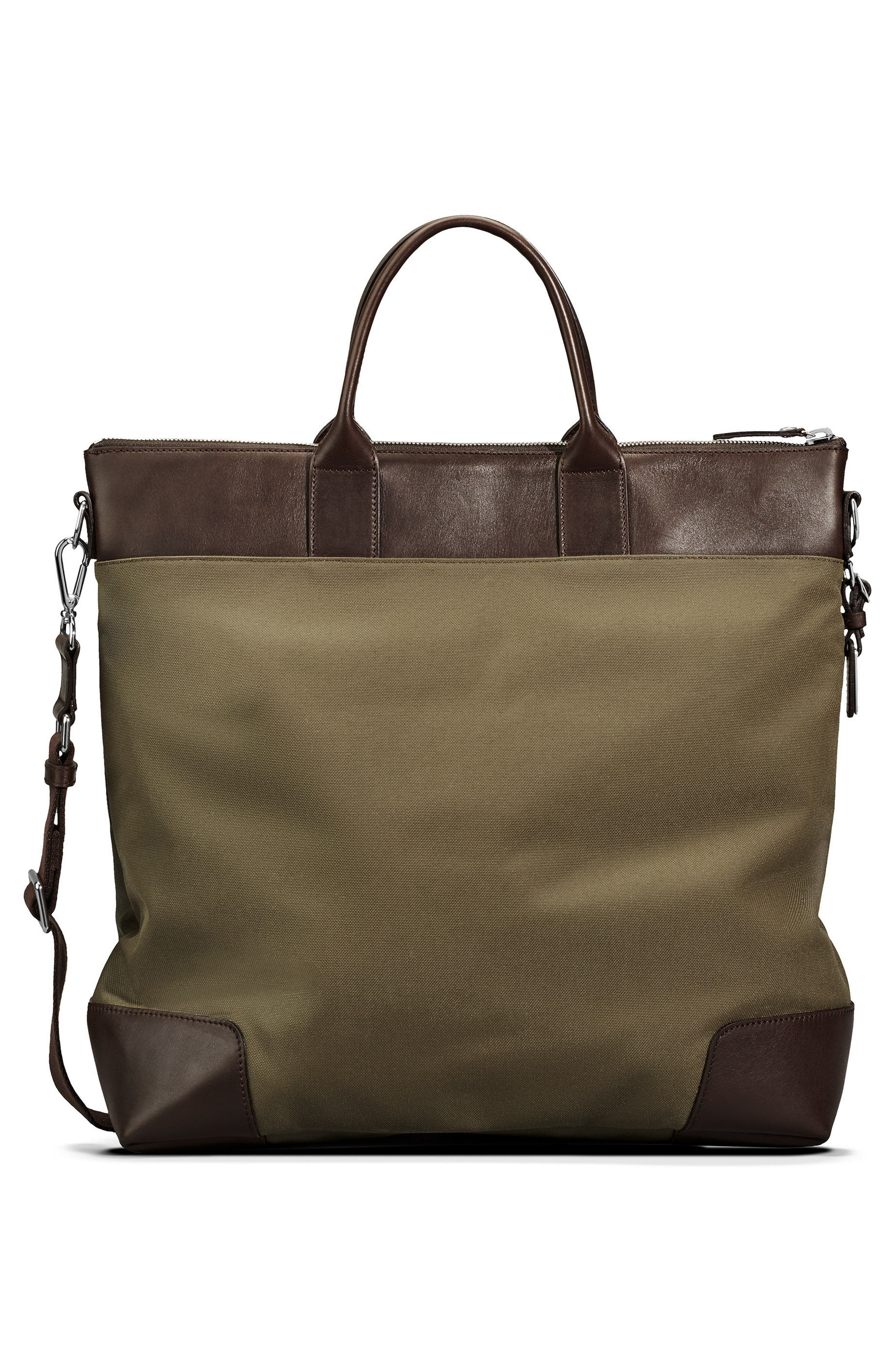Tote Bag,                             Alternate thumbnail 2, color,                             Olive/ Deep Brown