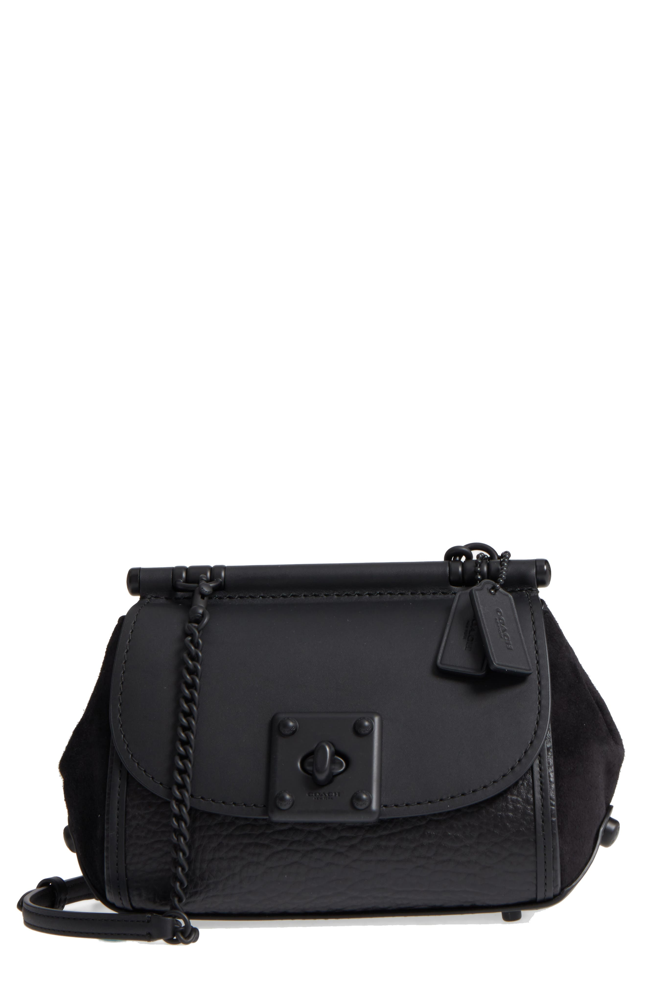 Alternate Image 1 Selected - COACH Mixed Leather Crossbody Bag
