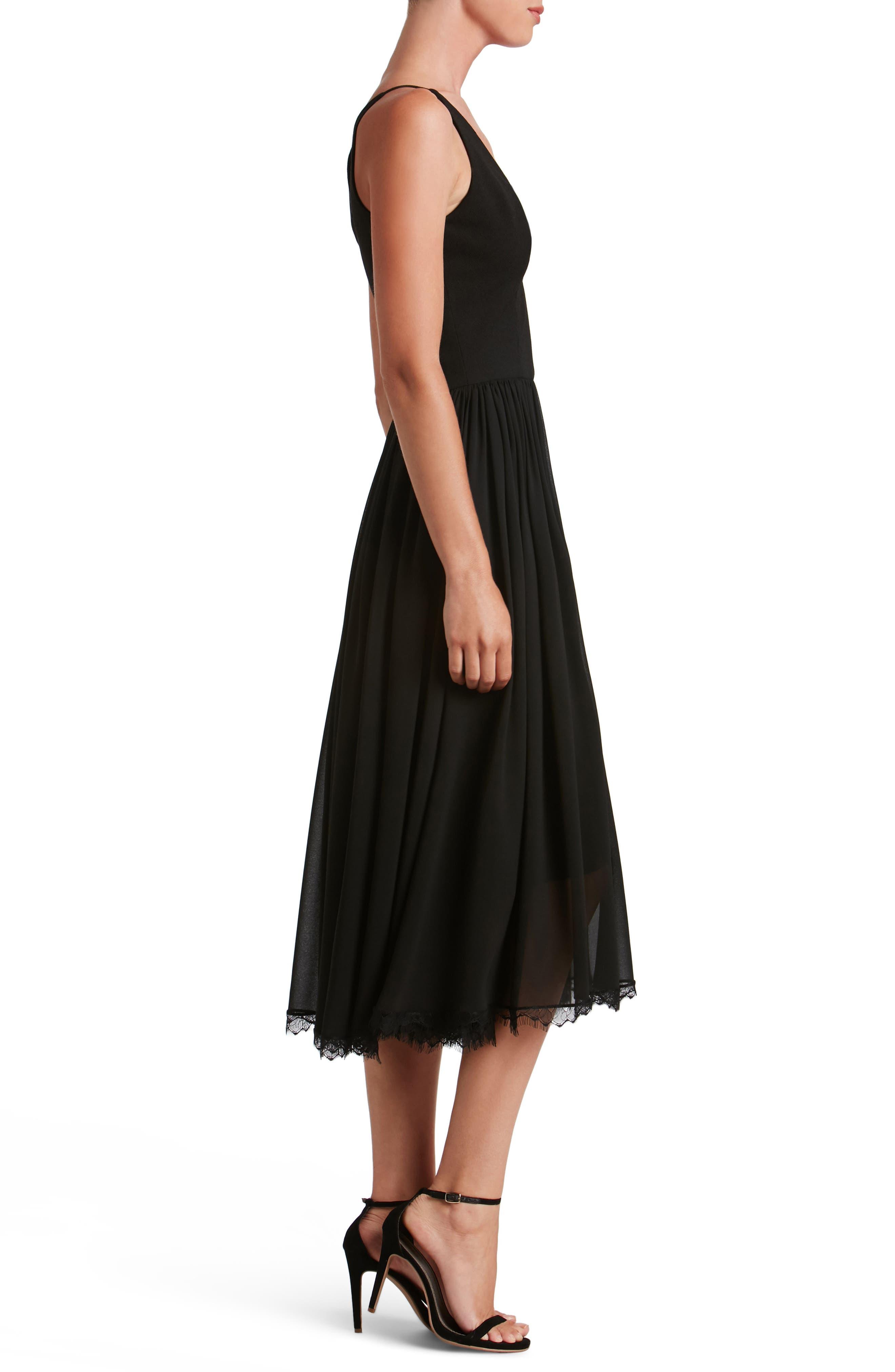 Alternate Image 3  - Dress the Population Alicia Mixed Media Midi Dress
