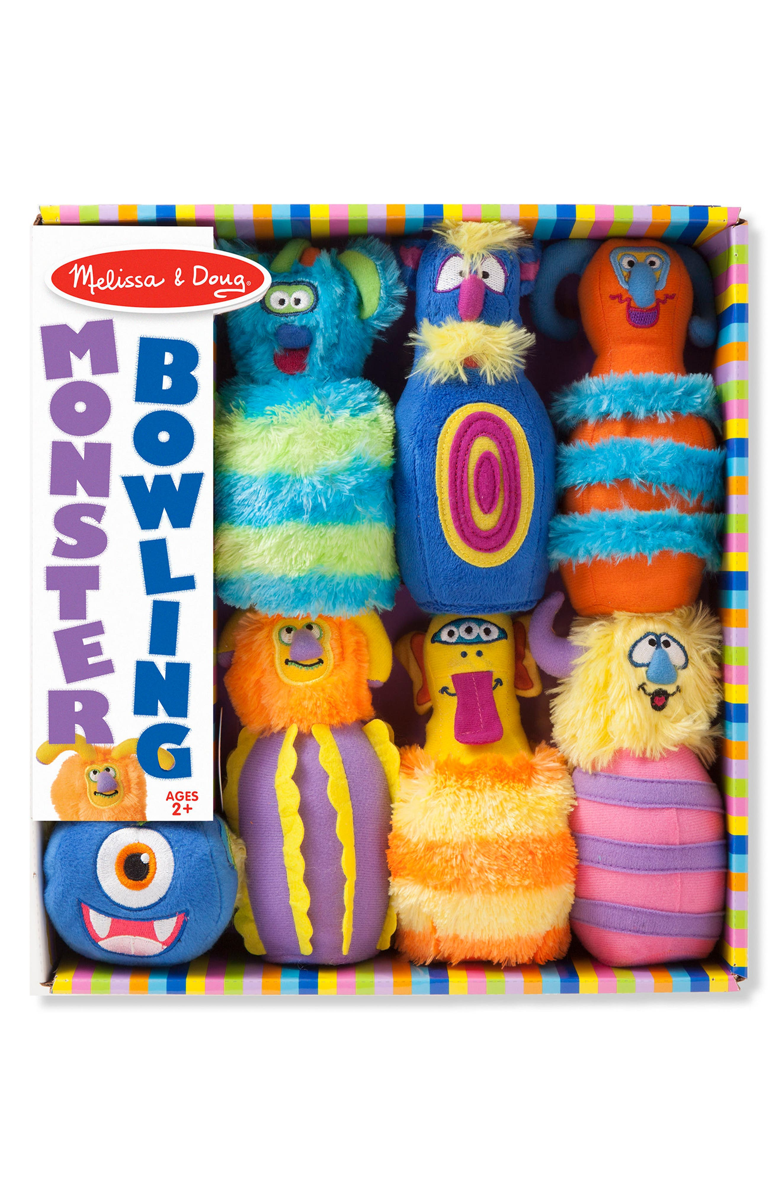 Melissa & Doug 7-Piece Plush Monster Bowling Set