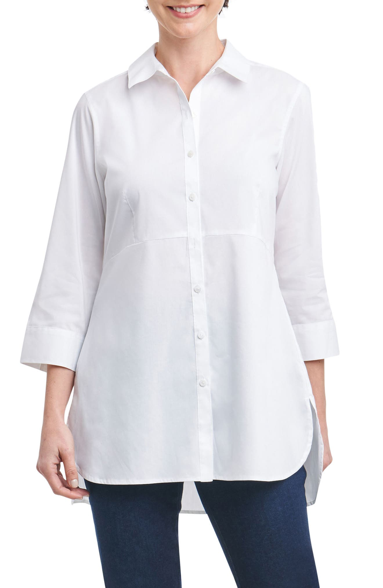 Alternate Image 1 Selected - Foxcroft Gwen Stretch Tunic Shirt