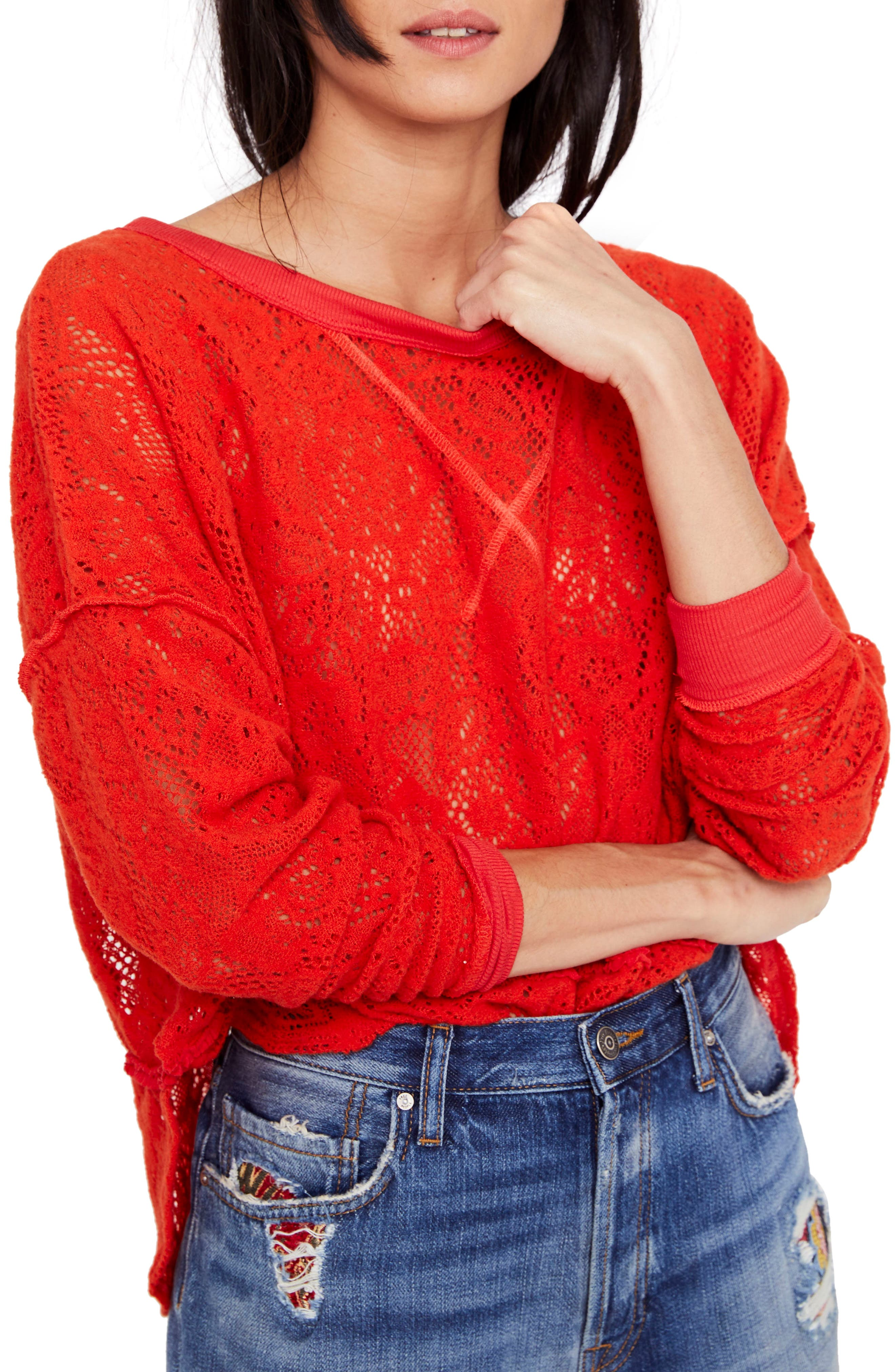Not Cold in This Top,                             Main thumbnail 1, color,                             Red