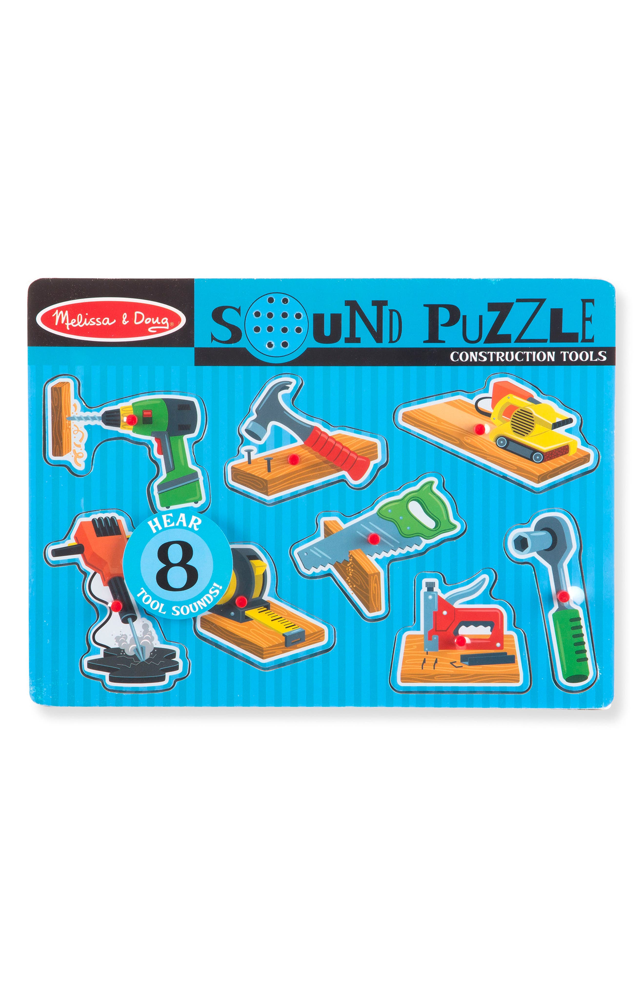 Construction Tools Sound Puzzle,                             Main thumbnail 1, color,                             Multi