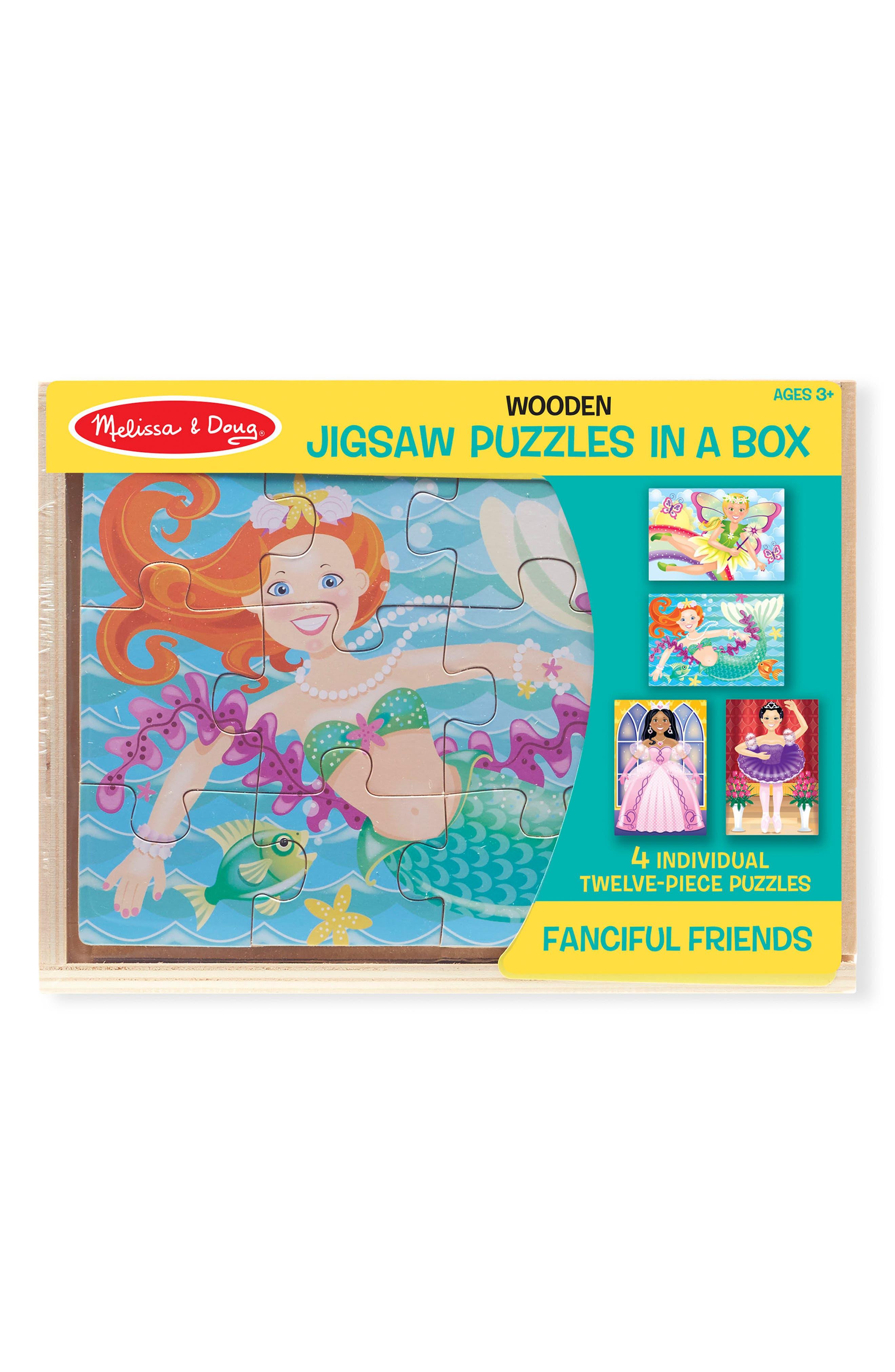 Melissa & Doug Fanciful Friends Jigsaw Puzzle Set