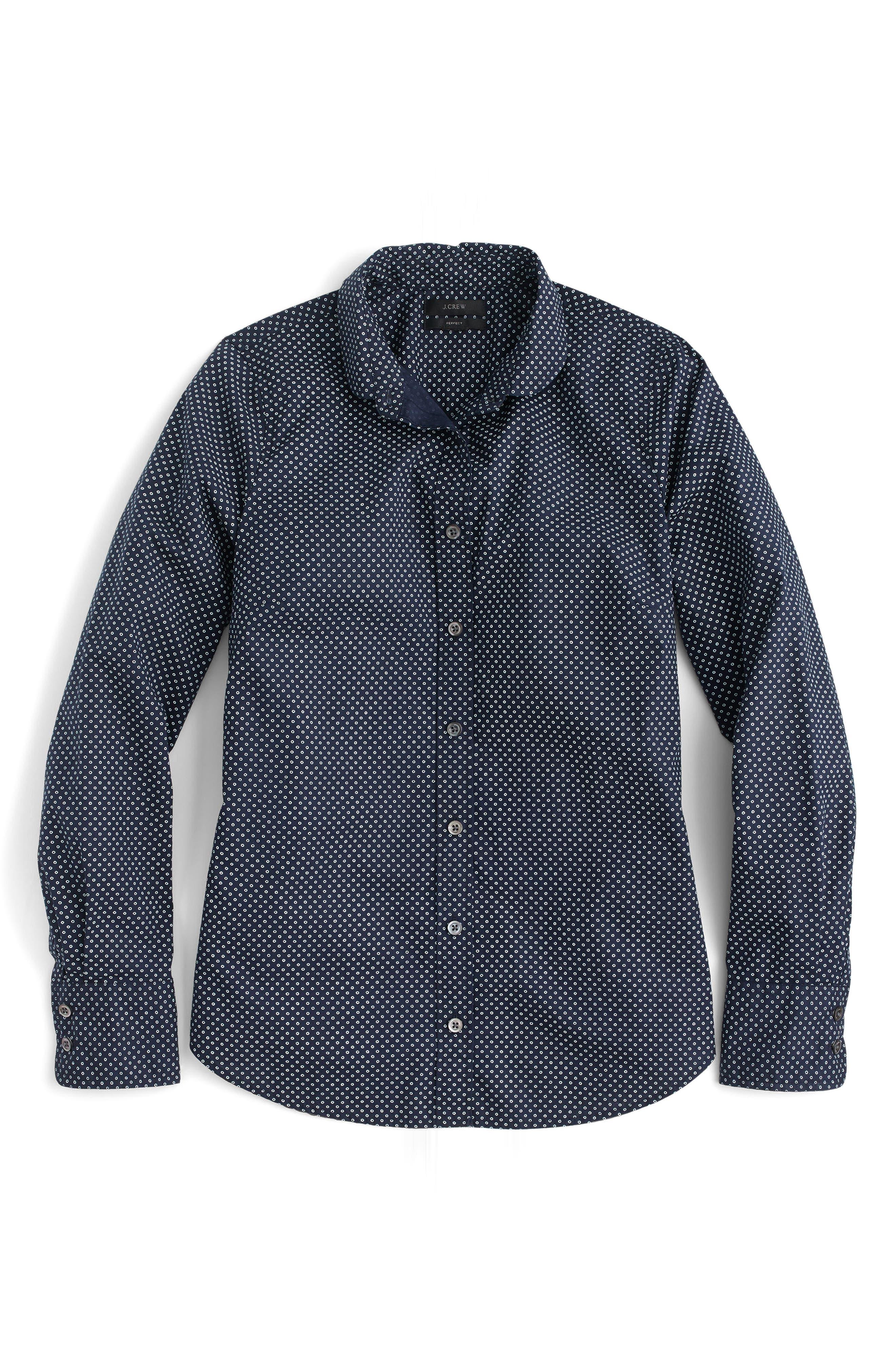 Alternate Image 4  - J.Crew Polka Dot Button-Up Shirt (Regular & Petite)