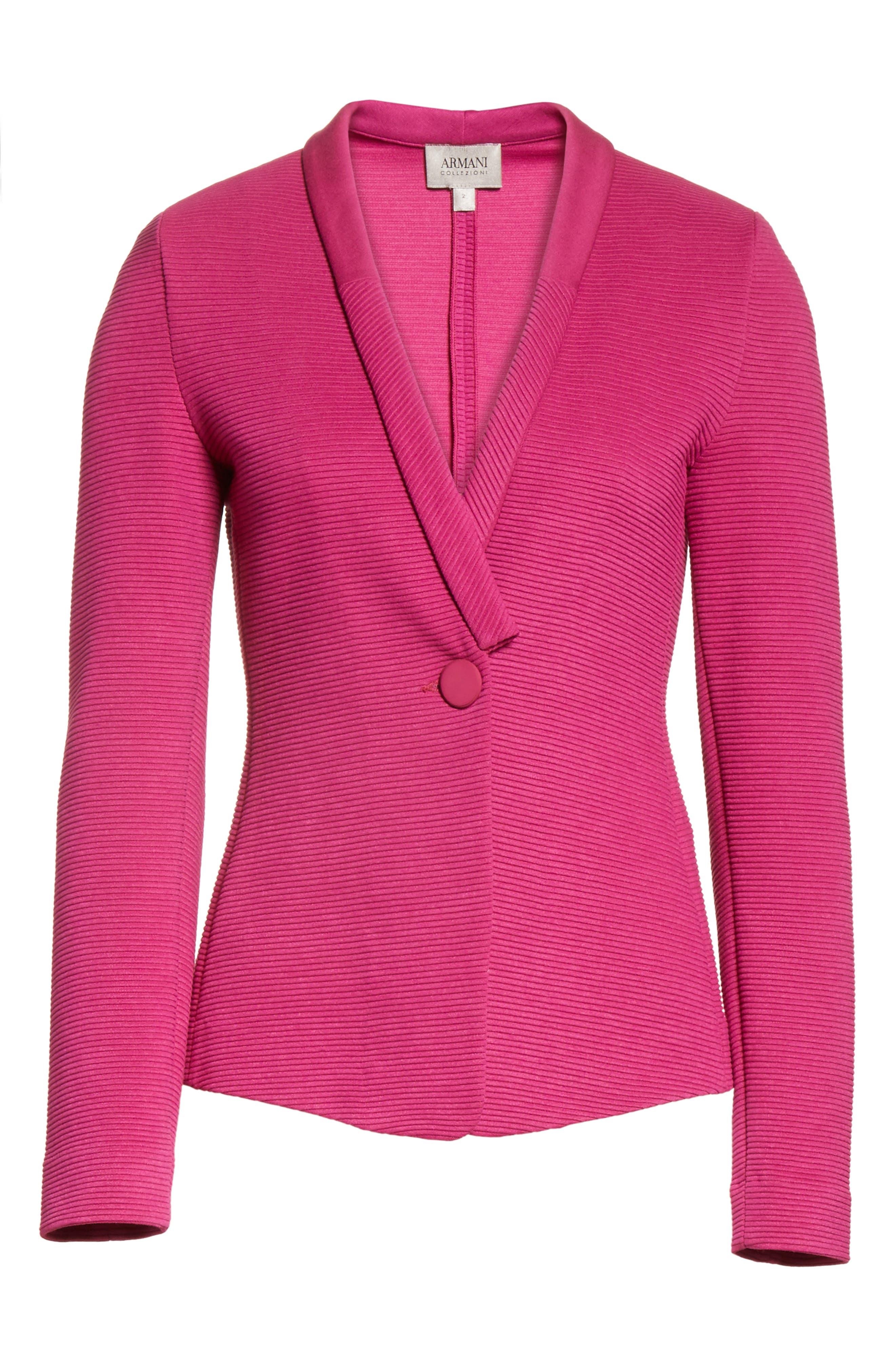 Alternate Image 6  - Armani Collezioni Ottoman Jersey Jacket